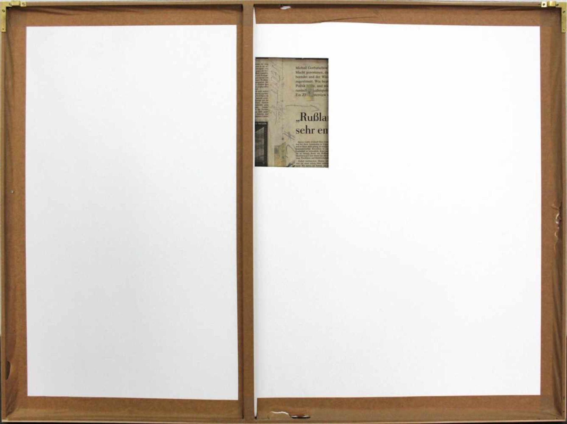 Wolfgang Ernst geb. 1942 o.T. (#2) 1996 Graphit auf Zeitungspapier handsigniert und datiert verso 55 - Bild 3 aus 4