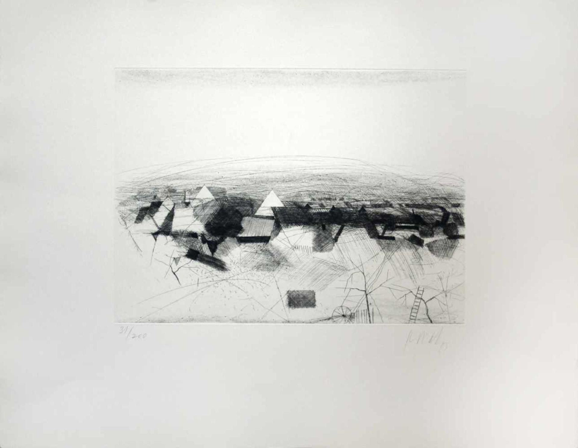 Karl Korab geb. 1937 o.T. 1993 Radierung handsigniert, datiert und nummeriert 31/200 51 x 65 cm