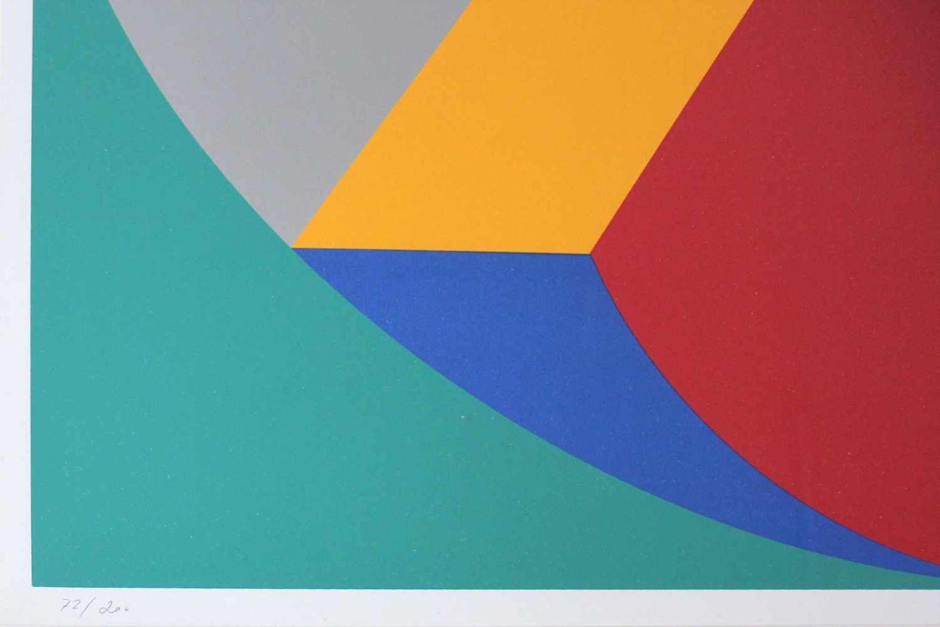 Marc Adrian 1930-2008 Poems Inventionistes II 1973 Farbserigraphie handsigniert und nummeriert 72/ - Bild 4 aus 4