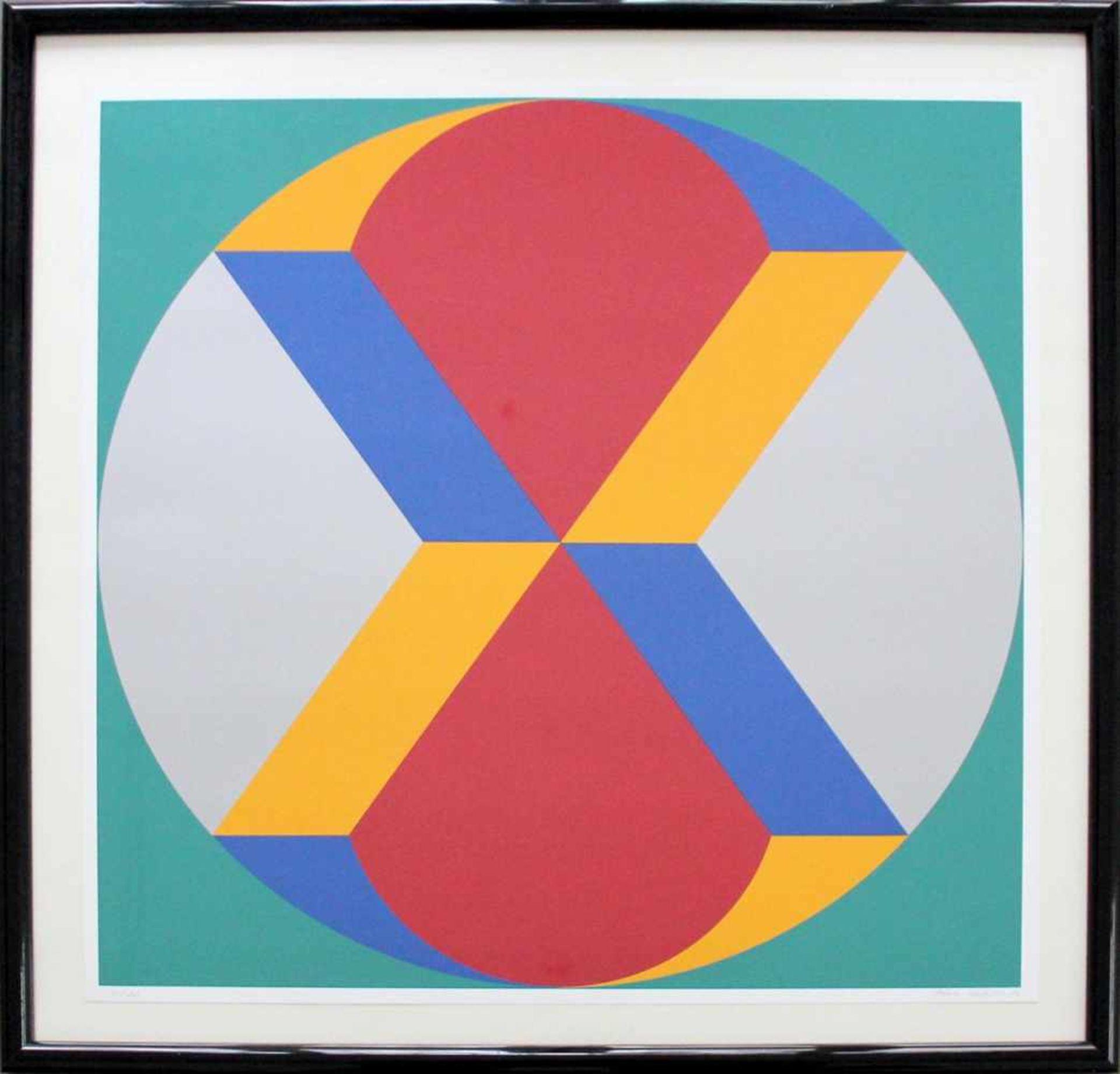Marc Adrian 1930-2008 Poems Inventionistes II 1973 Farbserigraphie handsigniert und nummeriert 72/ - Bild 2 aus 4
