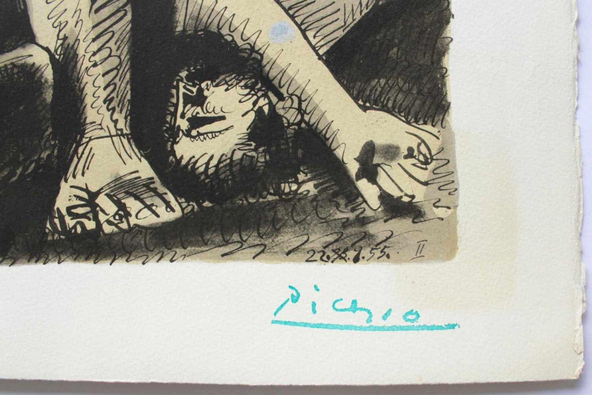 """Pablo Picasso 1881 - 1973 """"Bacchanale"""" 1955 Pochoir Lithographie stempelsigniert, Stempel Verso ("""" - Bild 2 aus 5"""