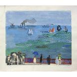 Raoul Dufy 1877 - 1953 Strandpromenade Lithographie stempelsigniert, nummeriert 301/5000 56 x 66 cm