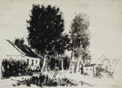 Viktor Pipal 1887-1971 Neustift am Walde Tusche monogrammiert vorne; Stempel und Titel verso 20 x 28