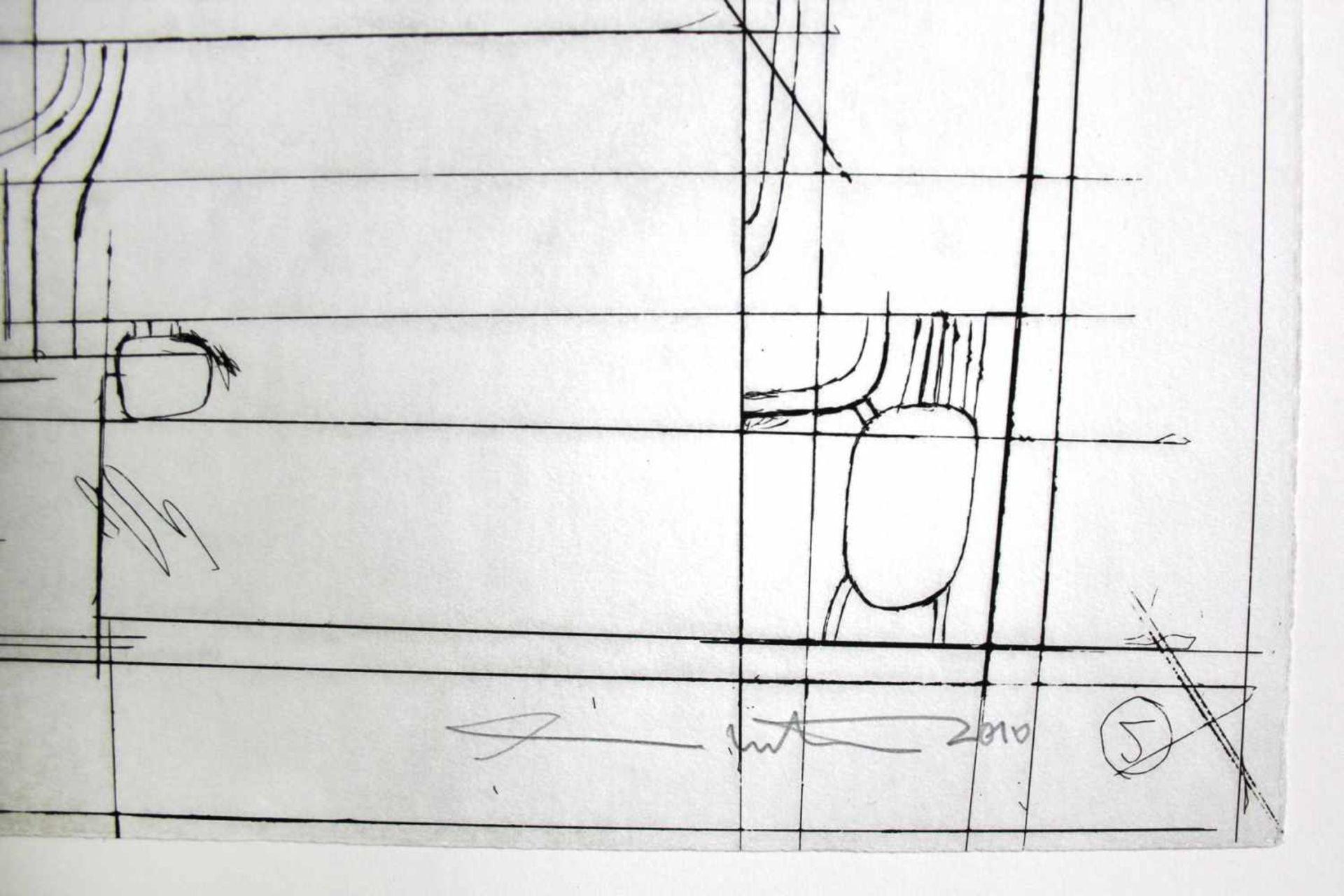 Hermann Nitsch geb. 1938 o.T. 2010 Kaltnadelradierung handsigniert und nummeriert 1/1 68 x 48 cm - Bild 3 aus 4