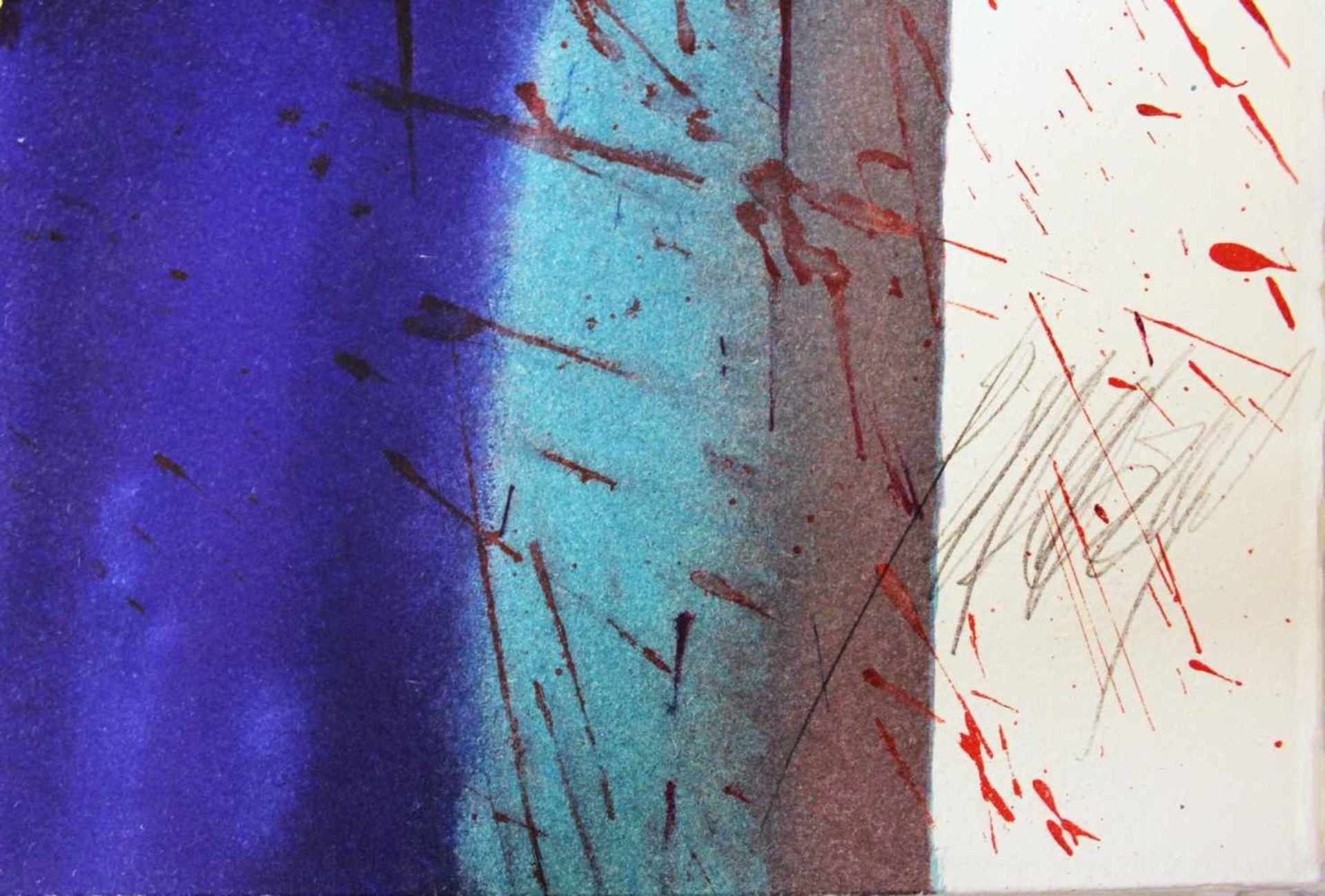 Markus Prachensky 1932-2011 Etruria Blues 2012 Farblithographie stempelsigniert und nummeriert 76, - Bild 4 aus 4