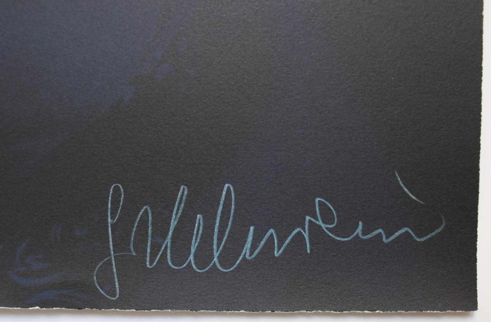 Gottfried Helnwein geb. 1948 Jean Tinguely dunkel Farblithographie handsigniert, nummeriert E.A. - Bild 2 aus 3
