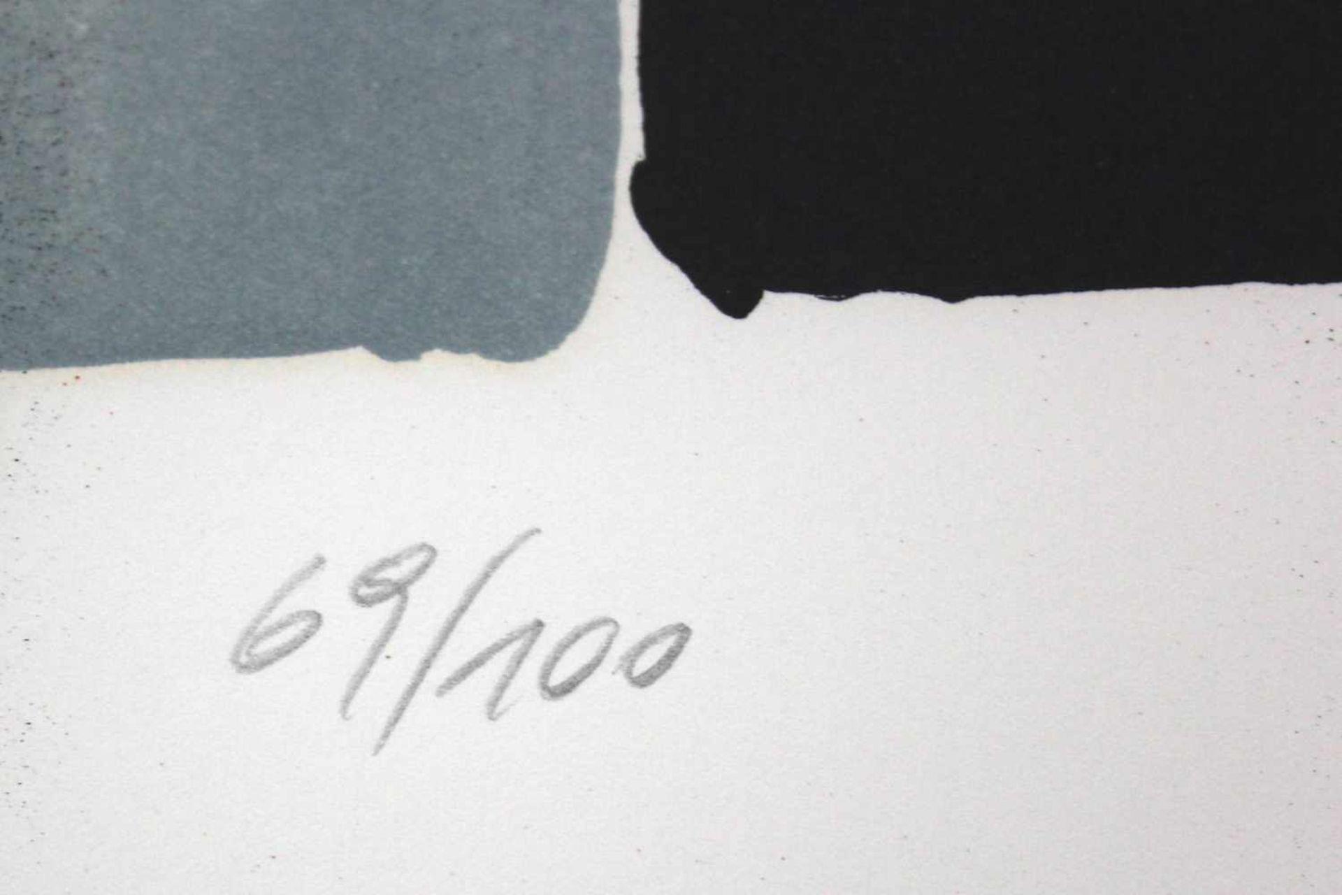 Markus Prachensky 1932-2011 Geometrische Komposition 1950/60 Farblithographie handsigniert und - Bild 4 aus 4