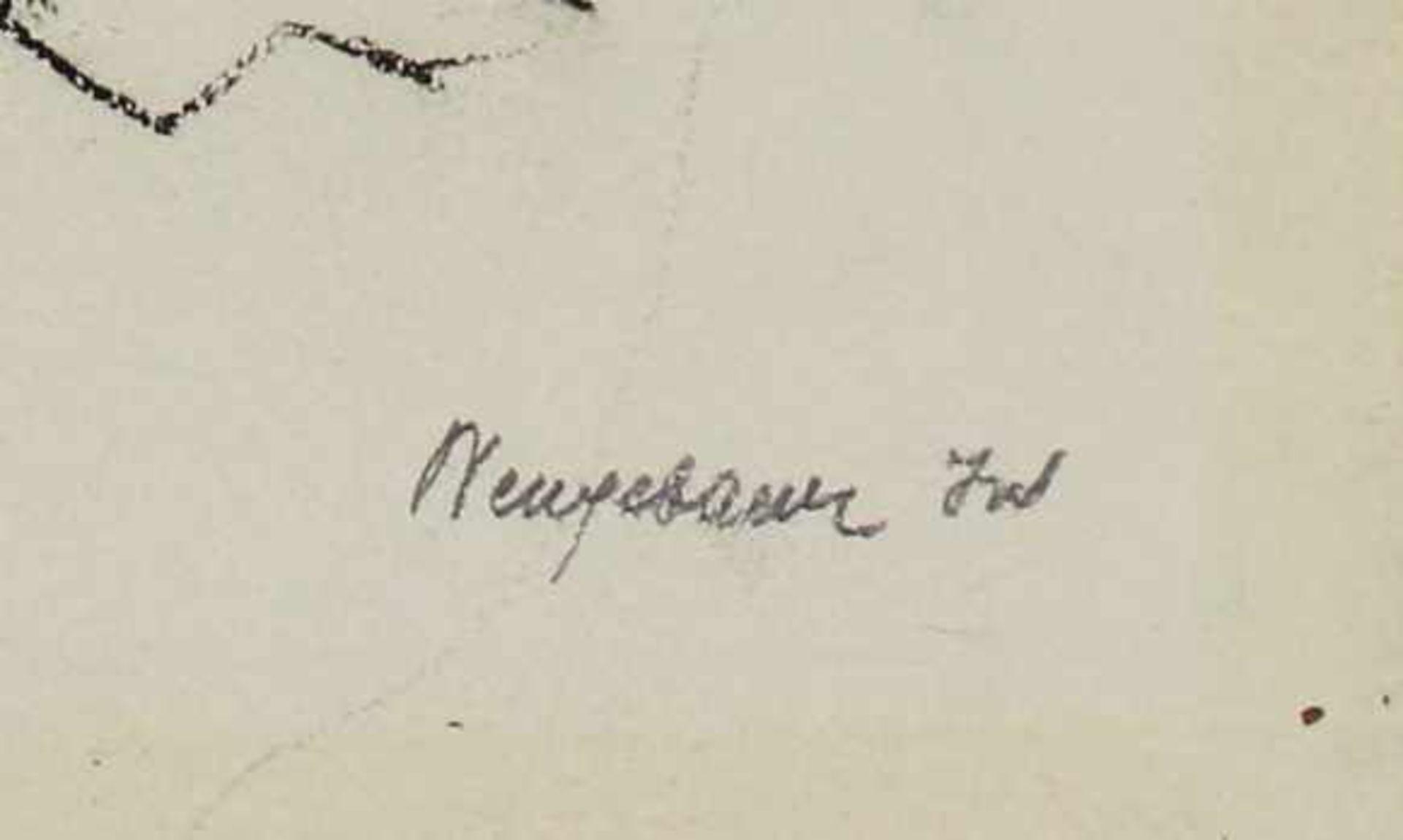 Marianne Neugebauer-Iwanska 1911-1997 Akt Graphit signiert 38 x 31 cm - Bild 2 aus 2