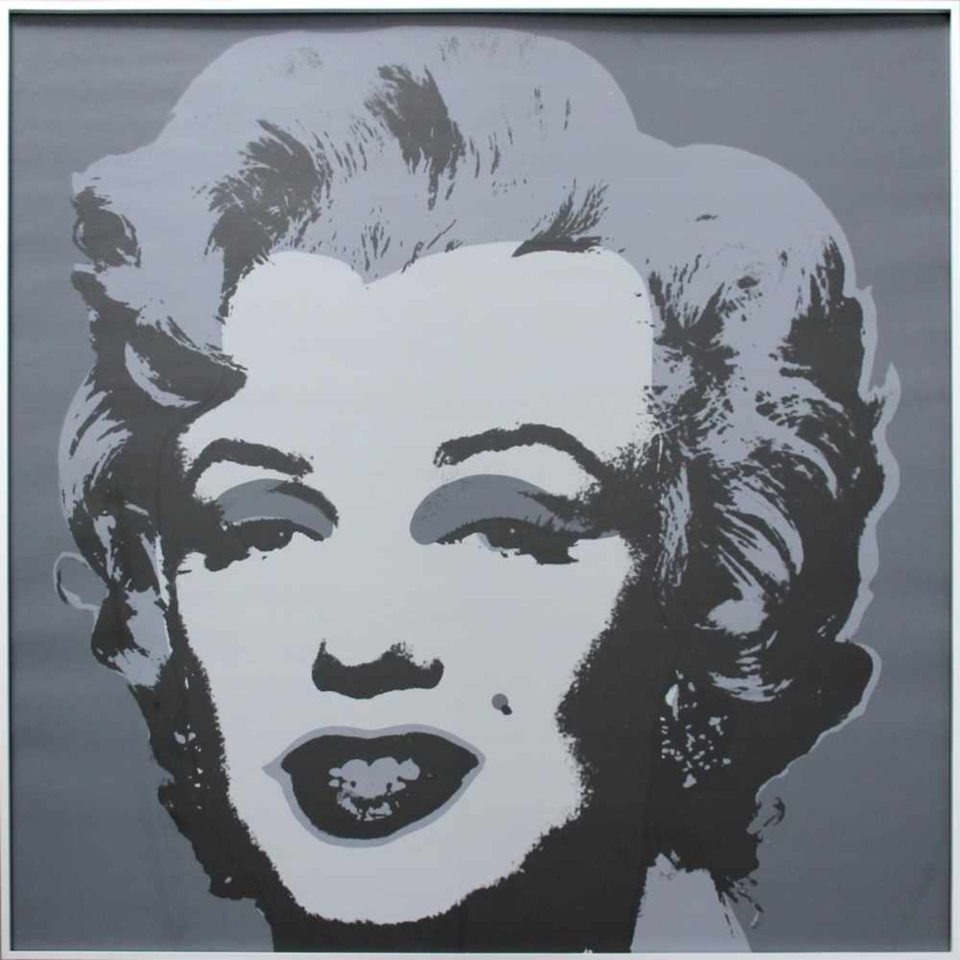 "Andy Warhol 1928-1987 Marilyn Monroe Farbserigraphie Sunday B. Morning Edition, (Stempel verso: "" - Bild 2 aus 2"