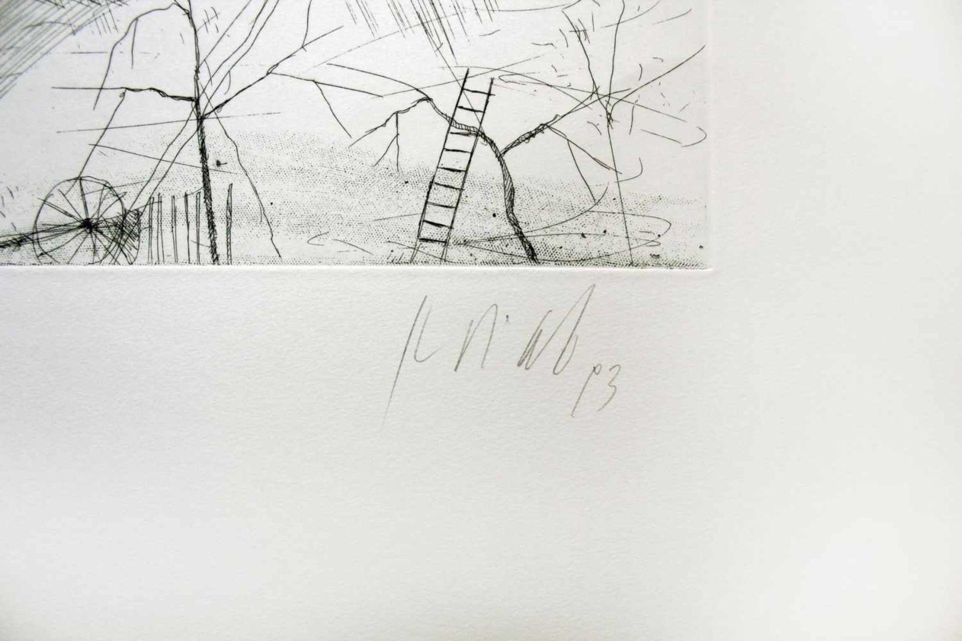 Karl Korab geb. 1937 o.T. 1993 Radierung handsigniert, datiert und nummeriert 31/200 51 x 65 cm - Bild 2 aus 4