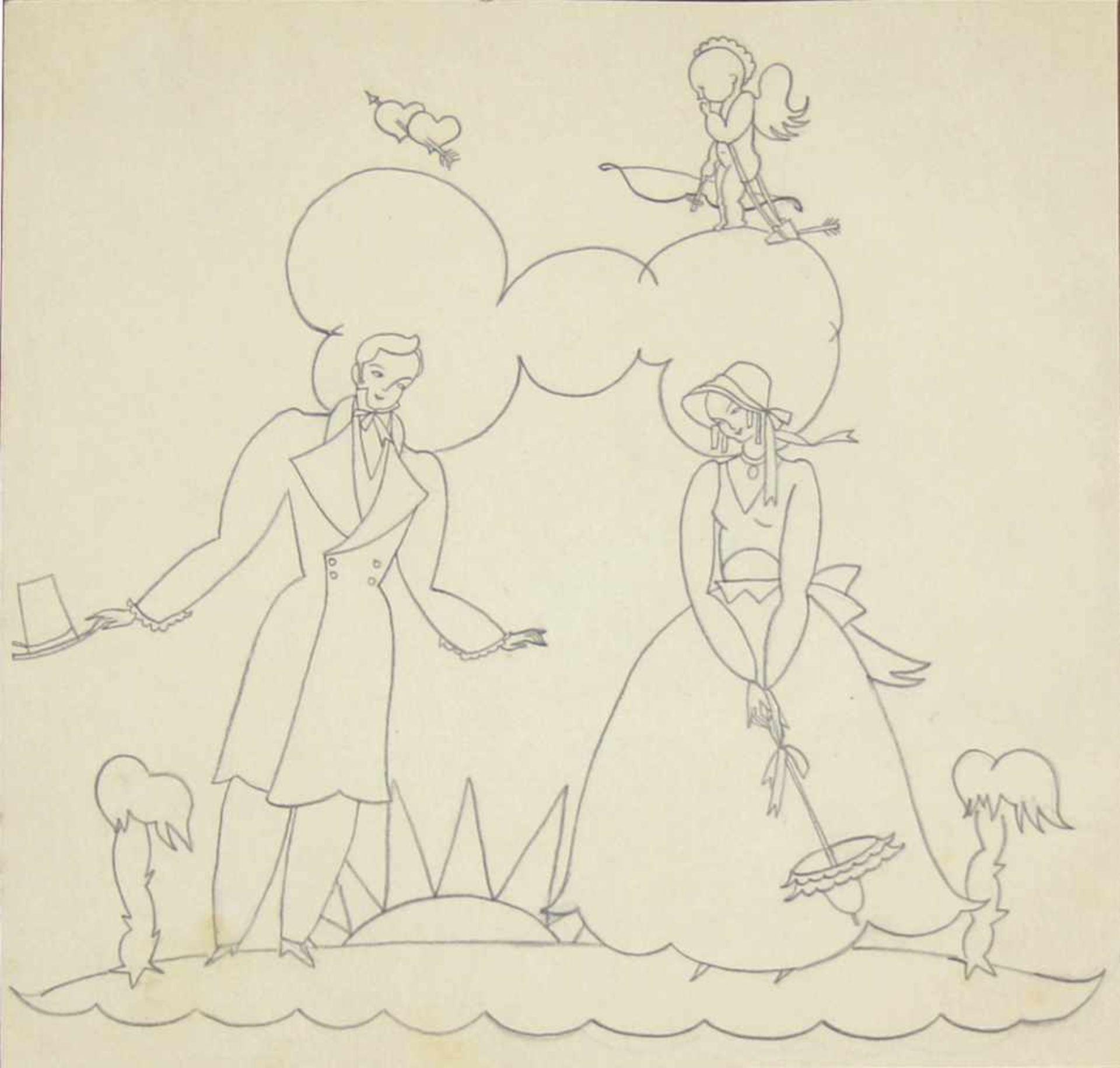 Grete Jelinek-Wiglitzki Konvolut aus 3 Zeichnungen der Künstlerin um 1930 Graphit 3 Zeichnungen 15 x - Bild 2 aus 6