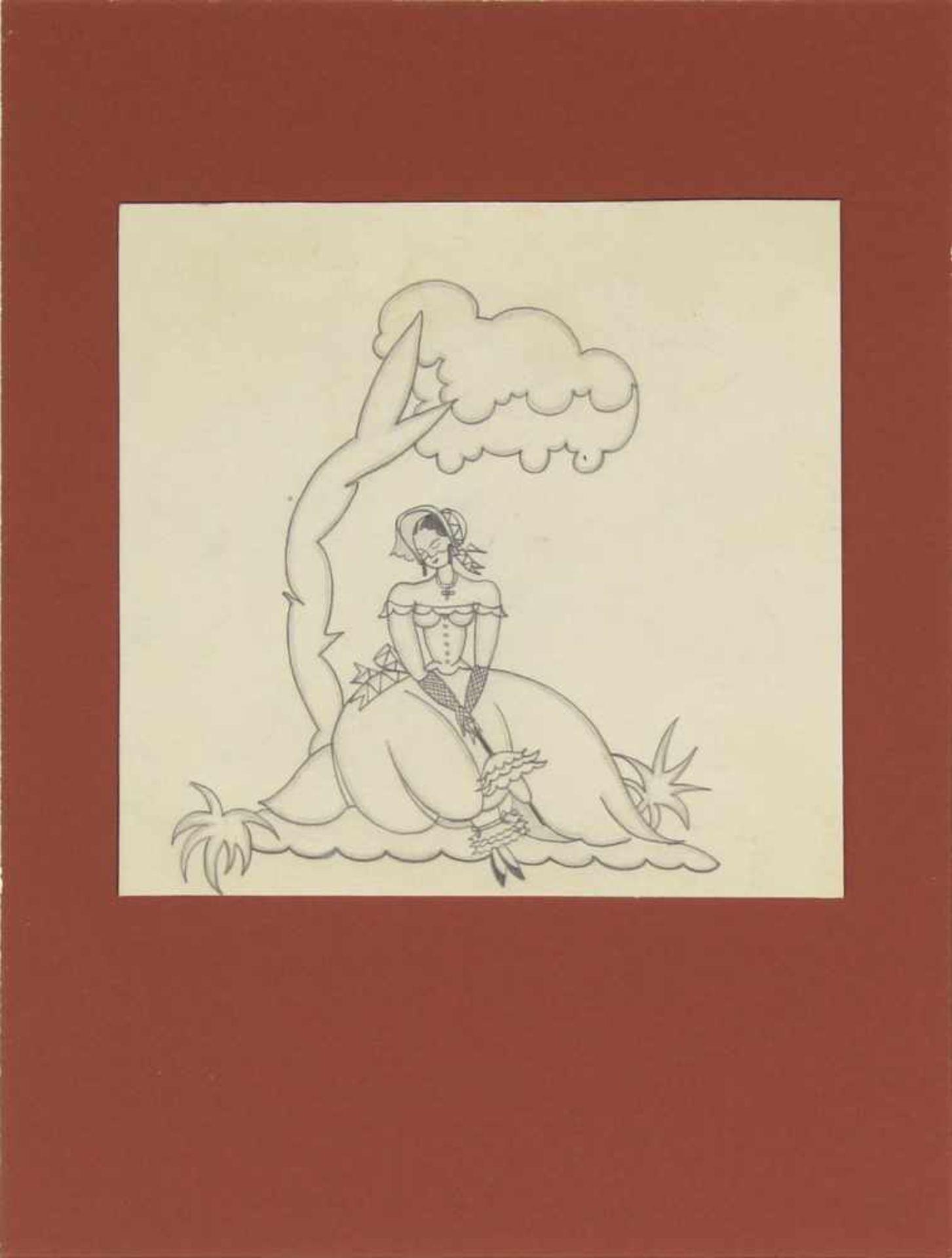 Grete Jelinek-Wiglitzki Konvolut aus 3 Zeichnungen der Künstlerin um 1930 Graphit 3 Zeichnungen 15 x - Bild 3 aus 6