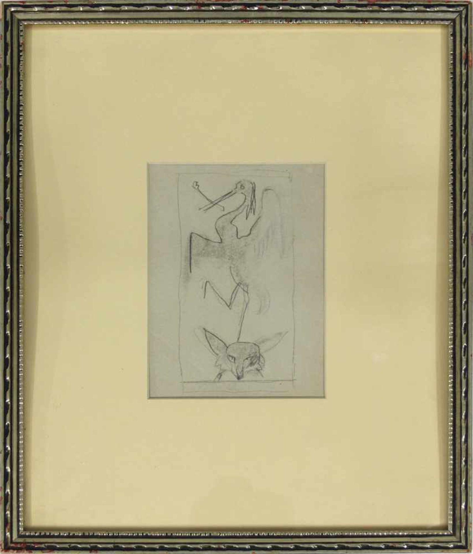 Ludwig Heinrich Jungnickel 1881-1965 Reier & Fuchs Graphit 16 x 12,5 - Bild 2 aus 3