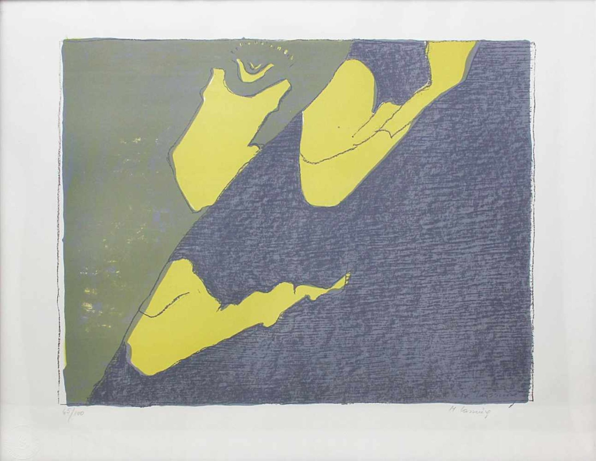Maria Lassnig 1919-2014 o.T. 1980 Farblithographie handsigniert und nummeriert 65/100 50 x 60 cm