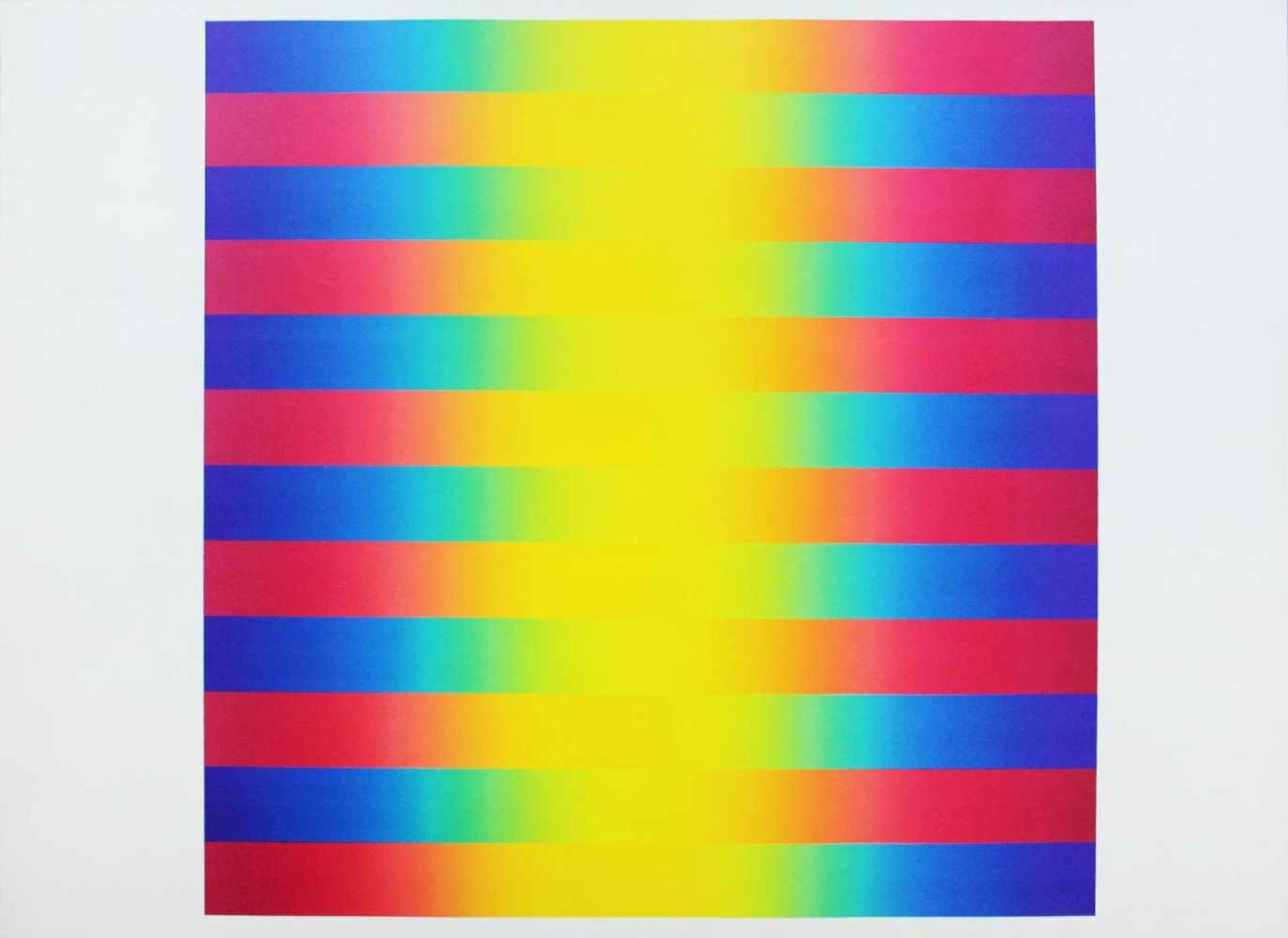 Getulio Alviani geb. 1937 o.T. Farbserigrafie handsigniert und nummeriert XLV/L (45/50) 71 x 100 cm