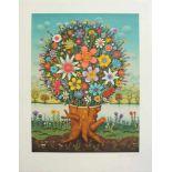 Josip Generalic 1914 - 1992 Blumenstrauß 1975 Lithographie 1975 realisiert, nummeriert 0345/5300