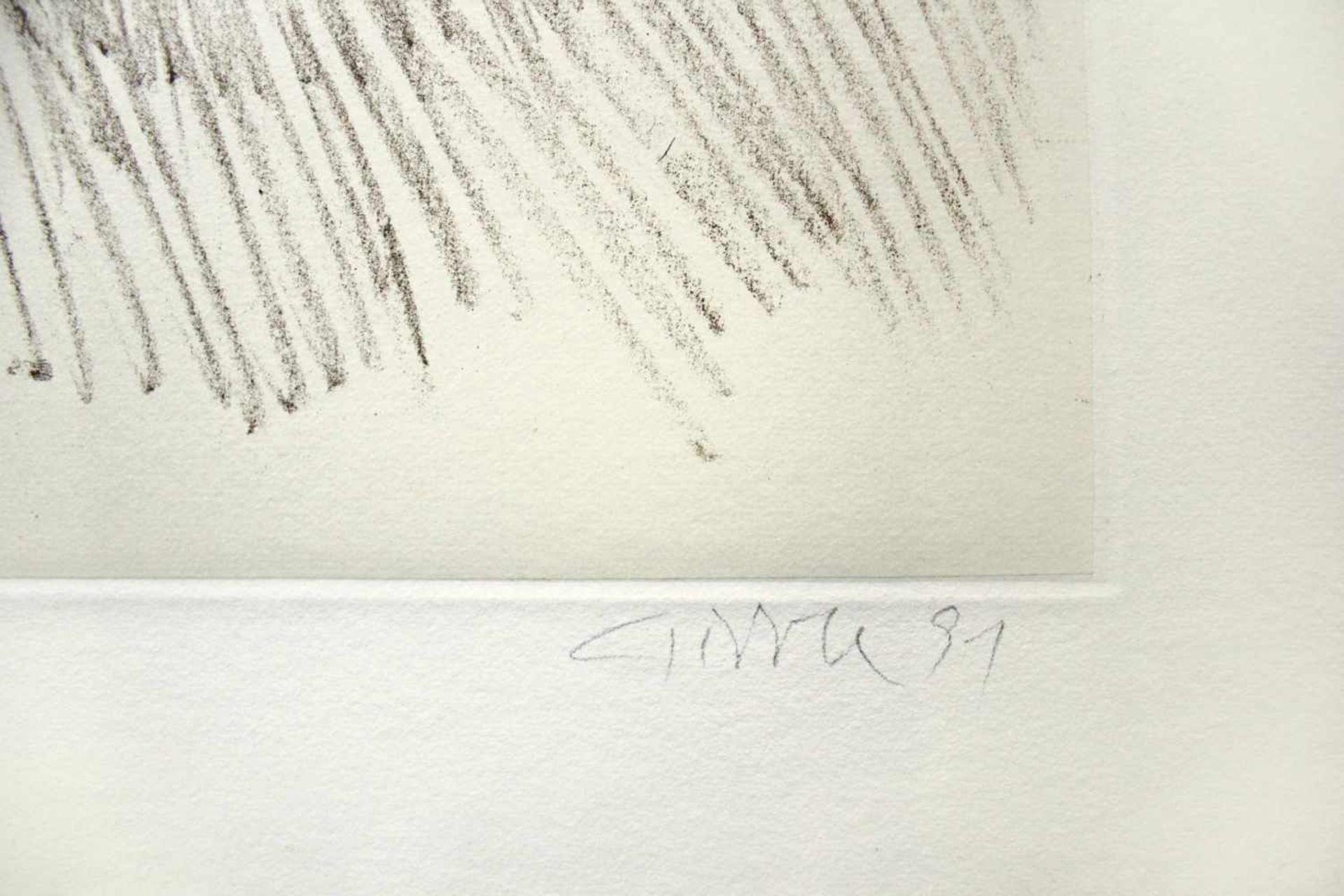 Raimund Girke 1930-2002 o.T. 1991 Radierung auf Rives-Bütten - collagiert handsigniert, datiert - Bild 2 aus 3