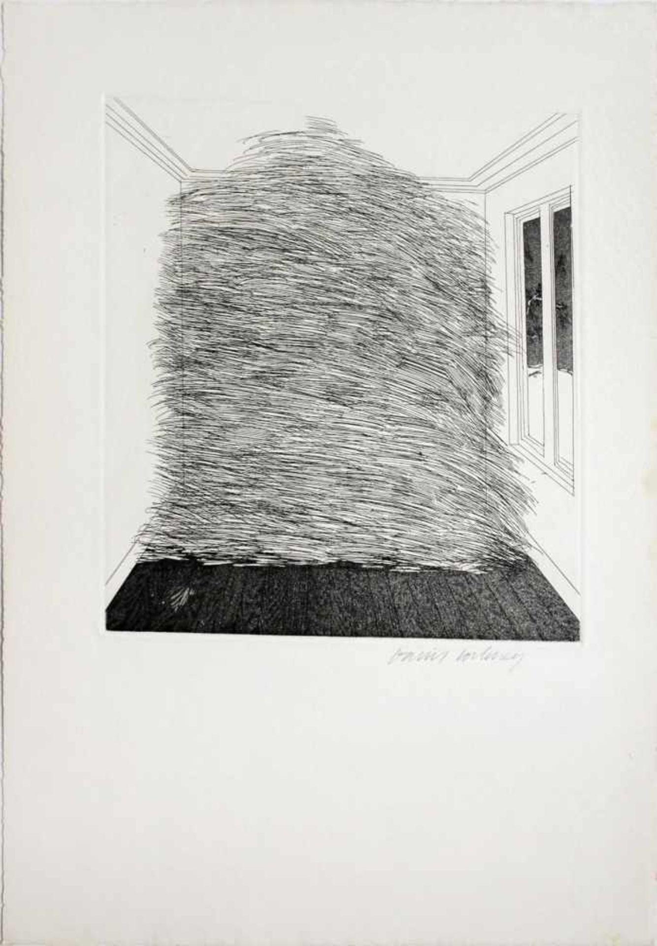 David Hockney geb. 1937 A Room Full Of Straw (from the Story Rumpelstilzchen) 1969 Aquatinta-