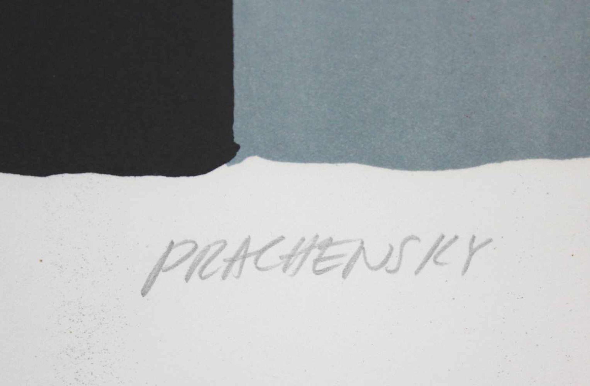 Markus Prachensky 1932-2011 Geometrische Komposition 1950/60 Farblithographie handsigniert und - Bild 3 aus 4