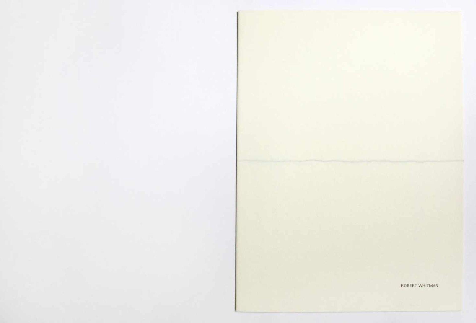 """Robert Witman geb. 1935 o.T. 1973 Lithographie auf Papier, beidseitig bedruckt aus dem Portfolio """""""