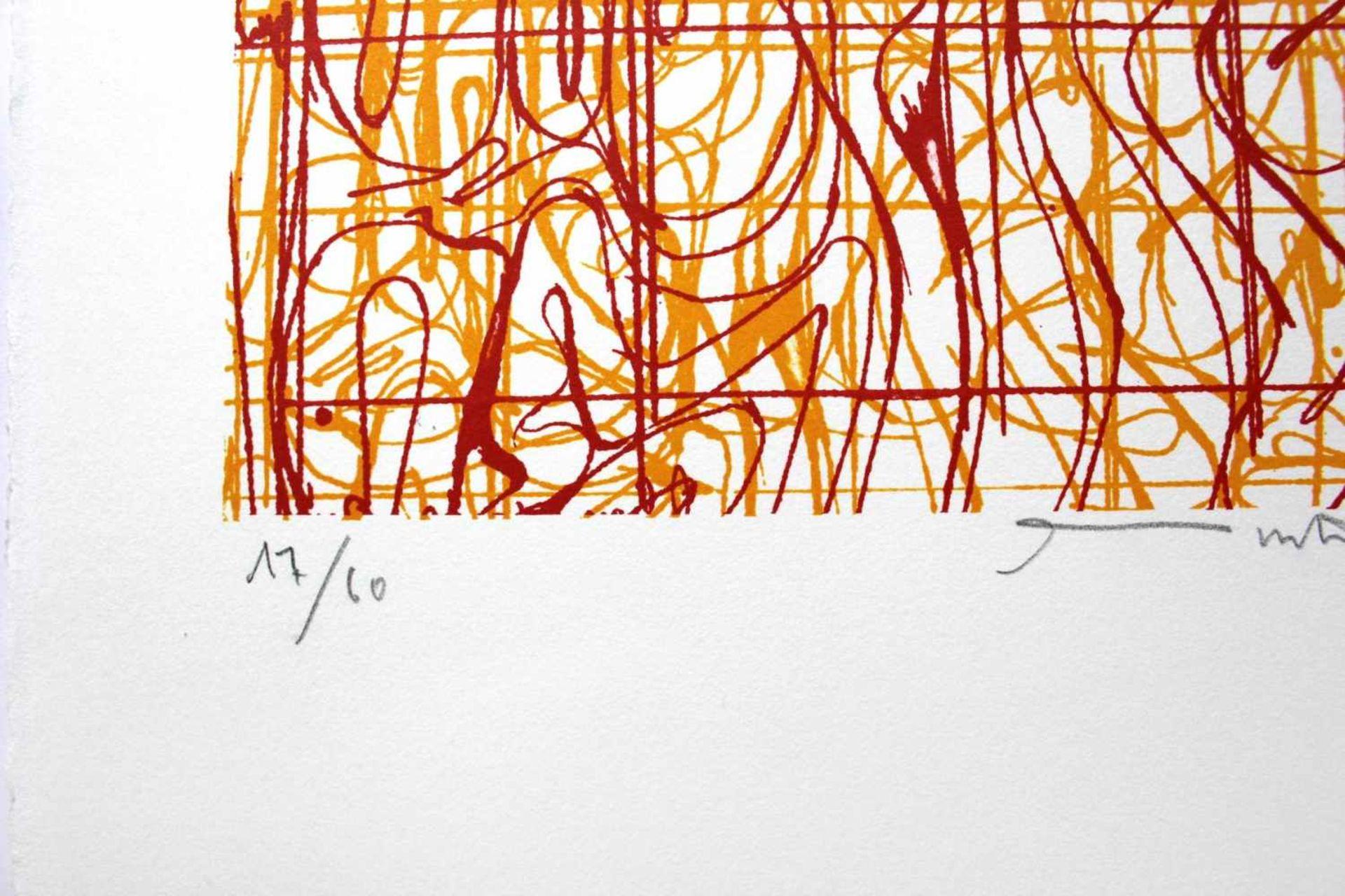 Hermann Nitsch geb. 1938 o.T. 2009 Farblithographie handsigniert und nummeriert 17/60 45 x 30 cm - Bild 3 aus 3