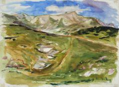 Karl Markus 1899 - 1974 Schneeberg 1962 Aquarell signiert und datiert 39 x 52 cm