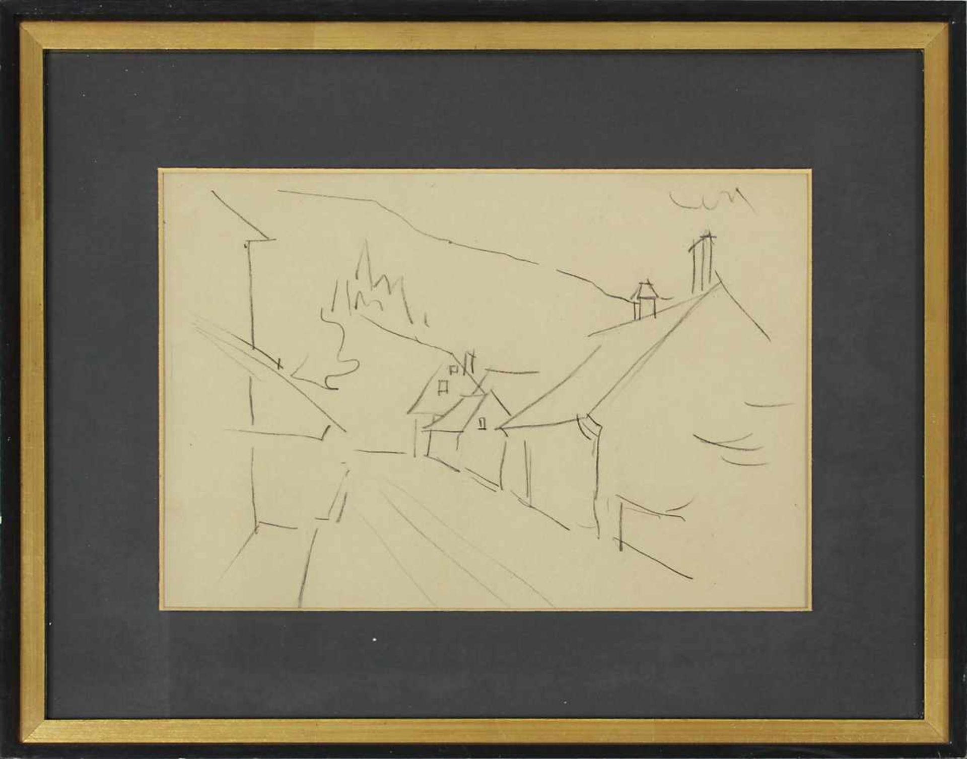 Robert Philippi 1877 - 1959 Landschaft 7 Graphit signiert und betitelt verso 20 x 30 cm - Bild 2 aus 2