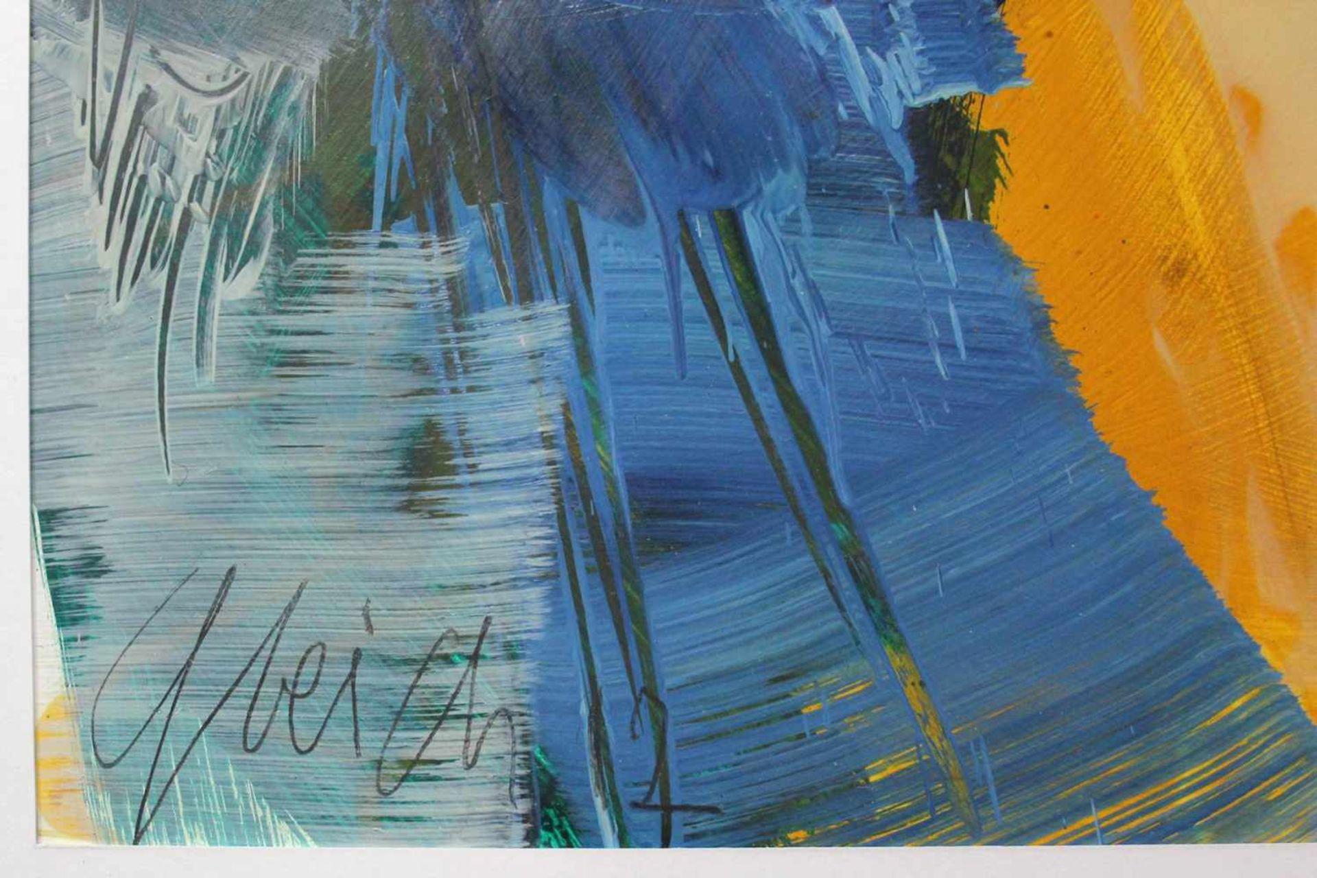 Joanna Gleich geb. 1959 o.T. 2012 Öl auf Papier handsigniert und datiert 95 x 65 cm - Bild 3 aus 3
