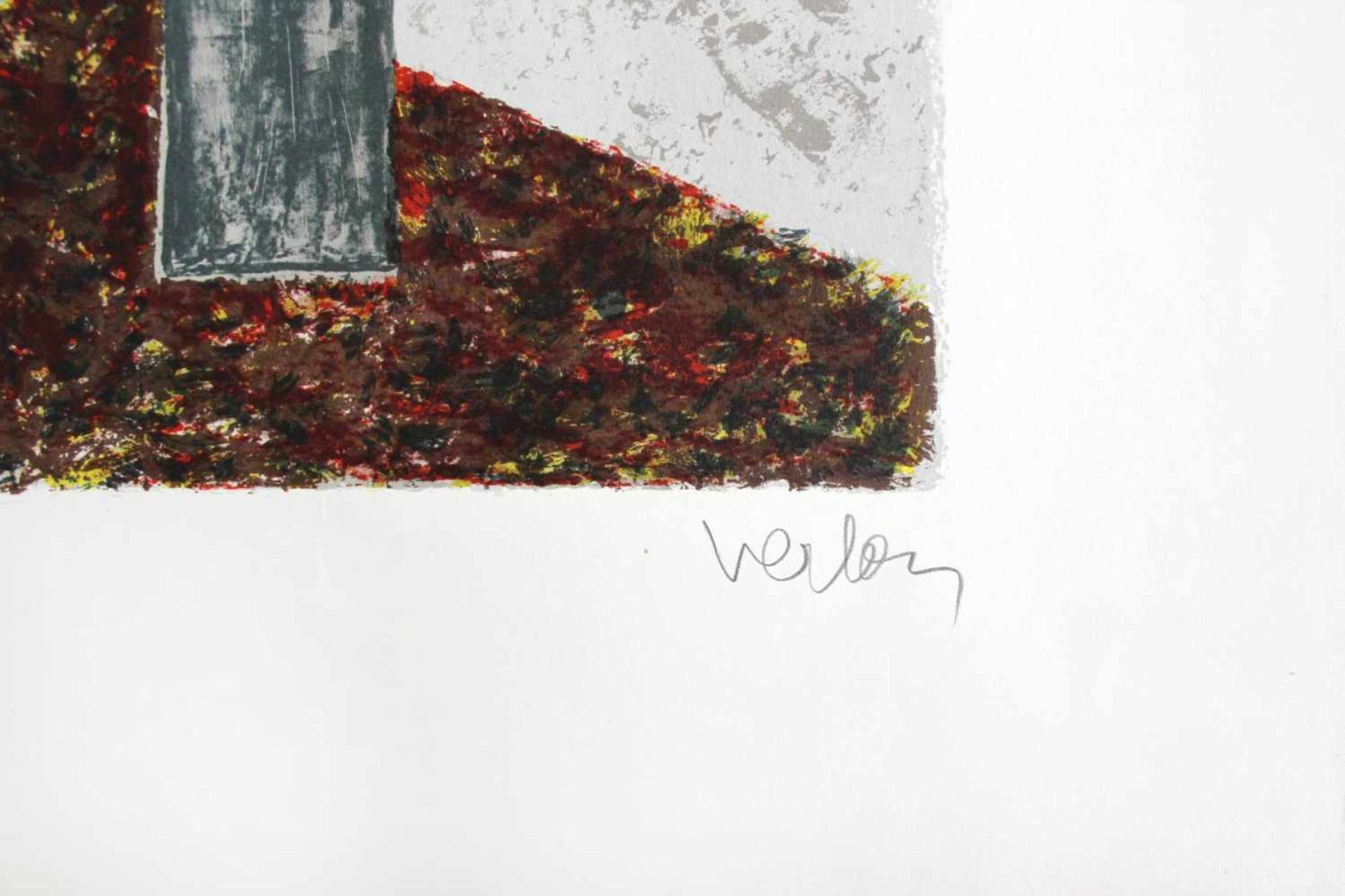 André Verlon 1917-1994 o.T. Farblithographie handsigniert und nummeriert E.A. 78 x 60 cm - Bild 2 aus 3