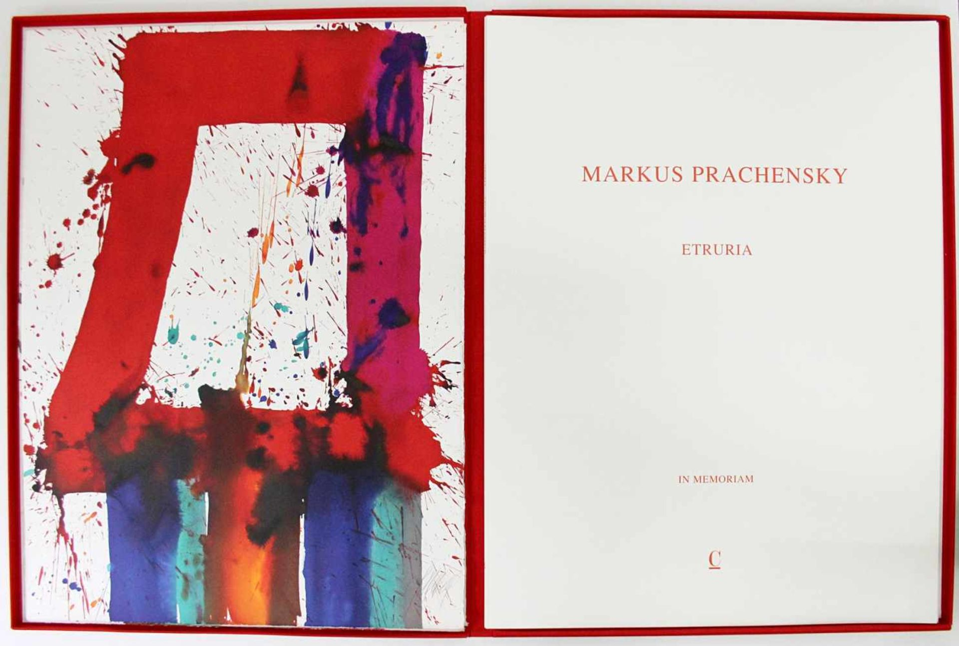 Markus Prachensky 1932-2011 Etruria Blues 2012 Farblithographie stempelsigniert und nummeriert 76, - Bild 2 aus 4