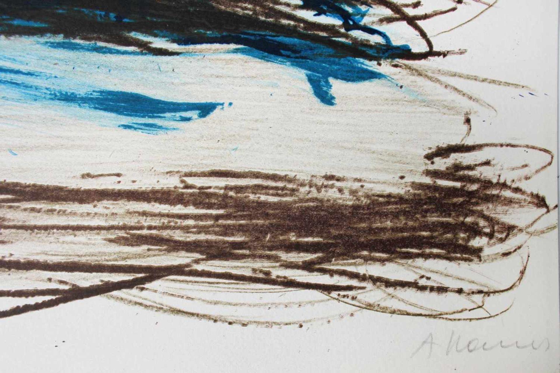 Arnulf Rainer geb. 1929 o.T. 1986 Farblithographie signiert und nummeriert 39/99 92 x 62 cm - Bild 3 aus 3