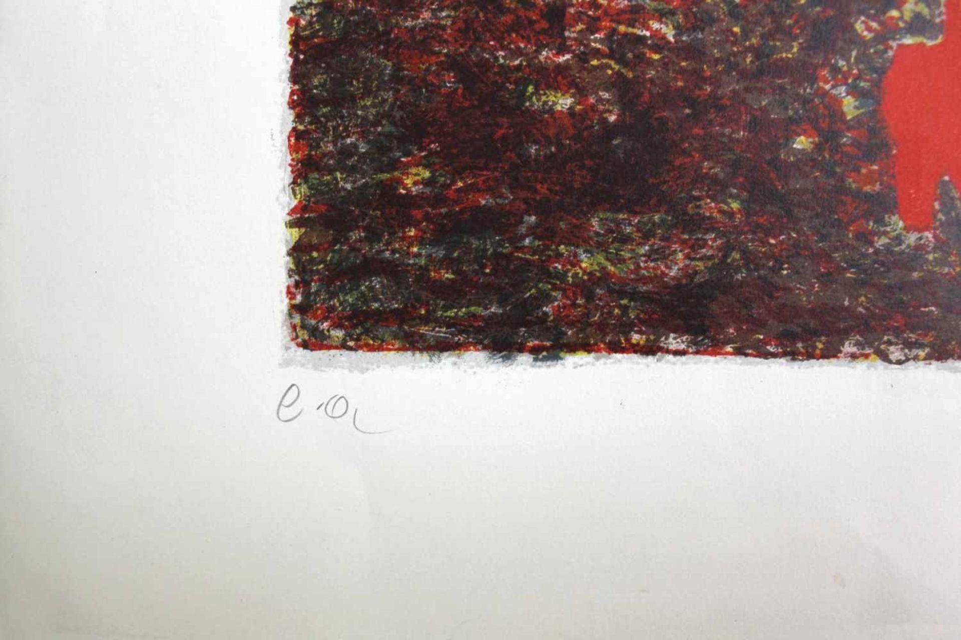 André Verlon 1917-1994 o.T. Farblithographie handsigniert und nummeriert E.A. 78 x 60 cm - Bild 3 aus 3