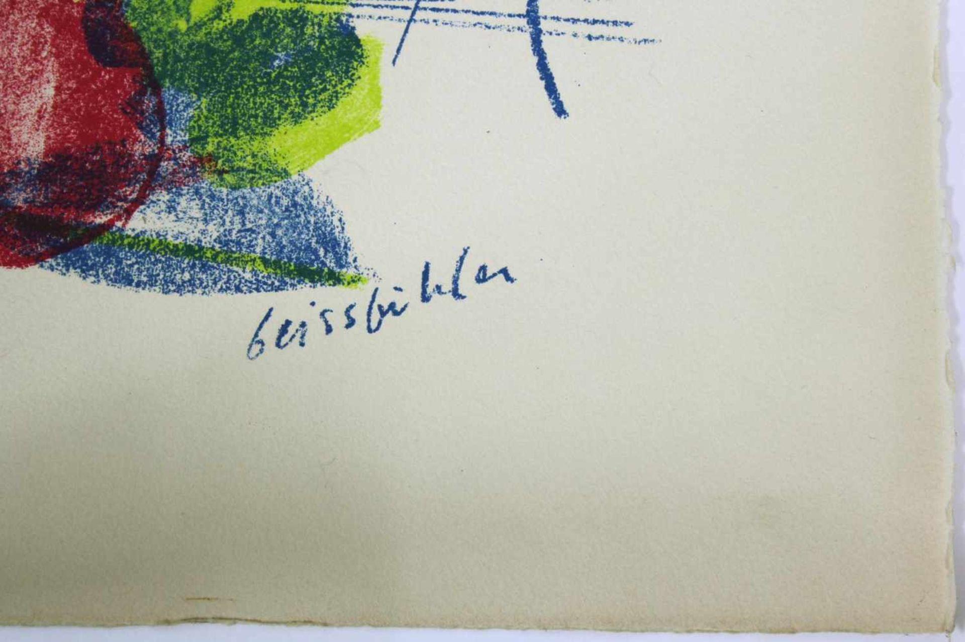 Geisbichler Landschaft Lithographie Signatur in Druckplatte, nummeriert 169/200 50 x 65 cm - Bild 2 aus 3