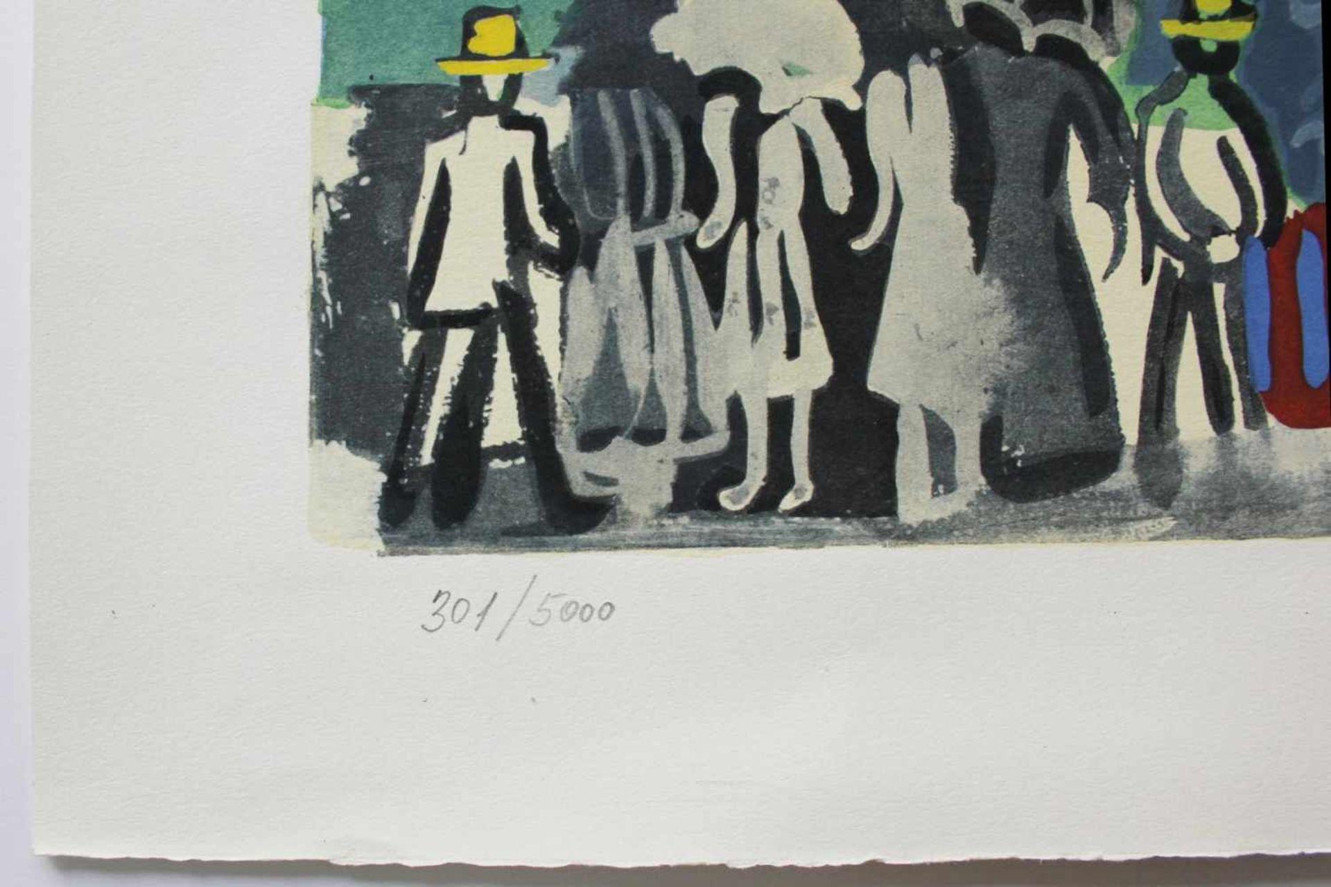 Raoul Dufy 1877 - 1953 Strandpromenade Lithographie stempelsigniert, nummeriert 301/5000 56 x 66 cm - Bild 3 aus 3