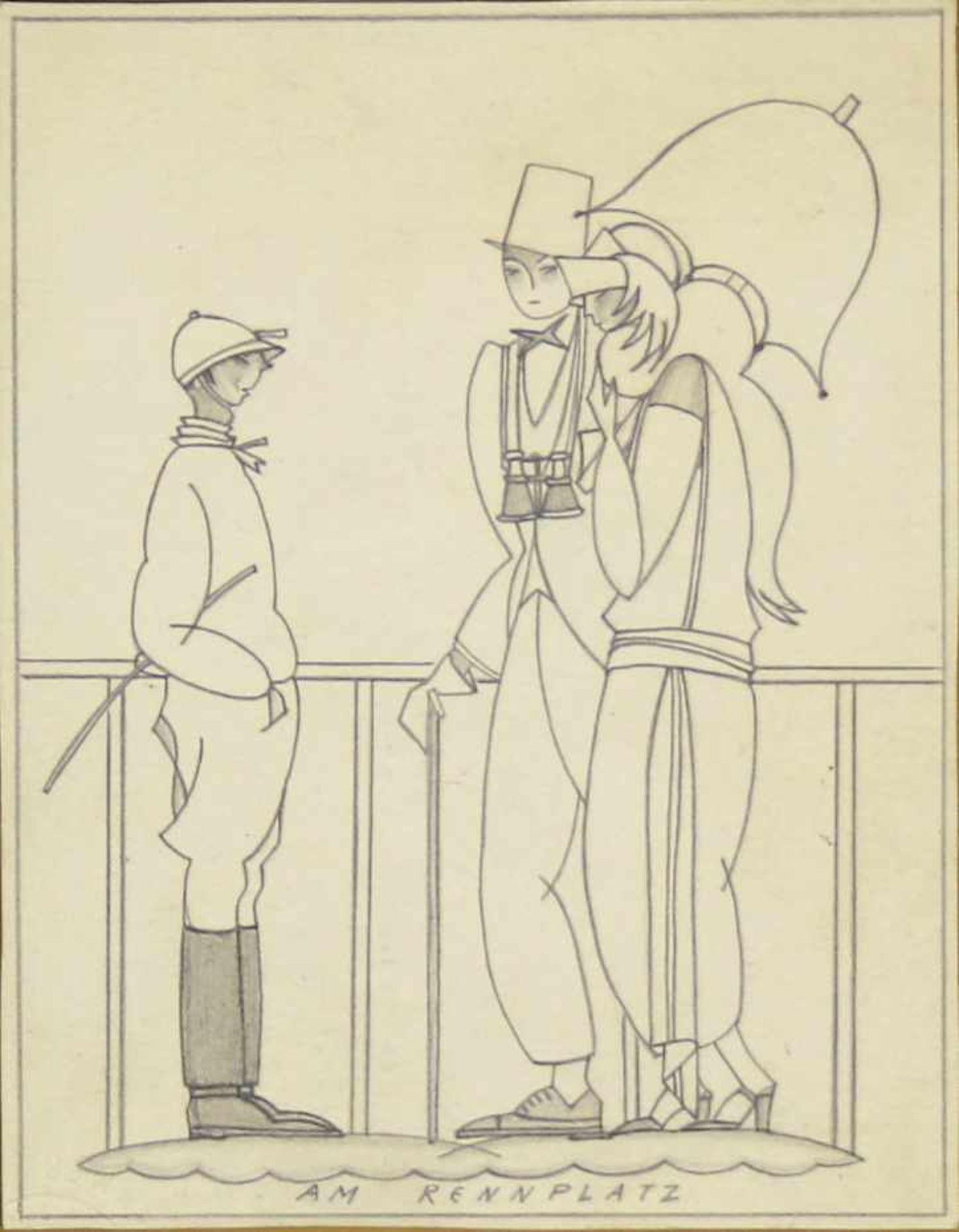 Grete Jelinek-Wiglitzki Konvolut aus 3 Zeichnungen der Künstlerin um 1930 Graphit 3 Zeichnungen 15 x - Bild 6 aus 6