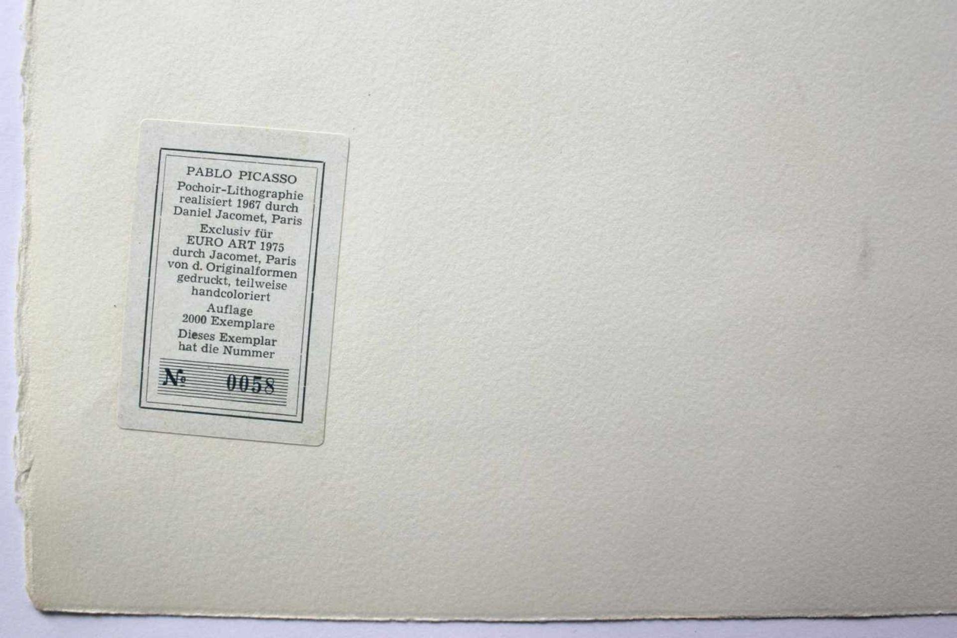"""Pablo Picasso 1881 - 1973 """"Bacchanale"""" 1955 Pochoir Lithographie stempelsigniert, Stempel Verso ("""" - Bild 5 aus 5"""