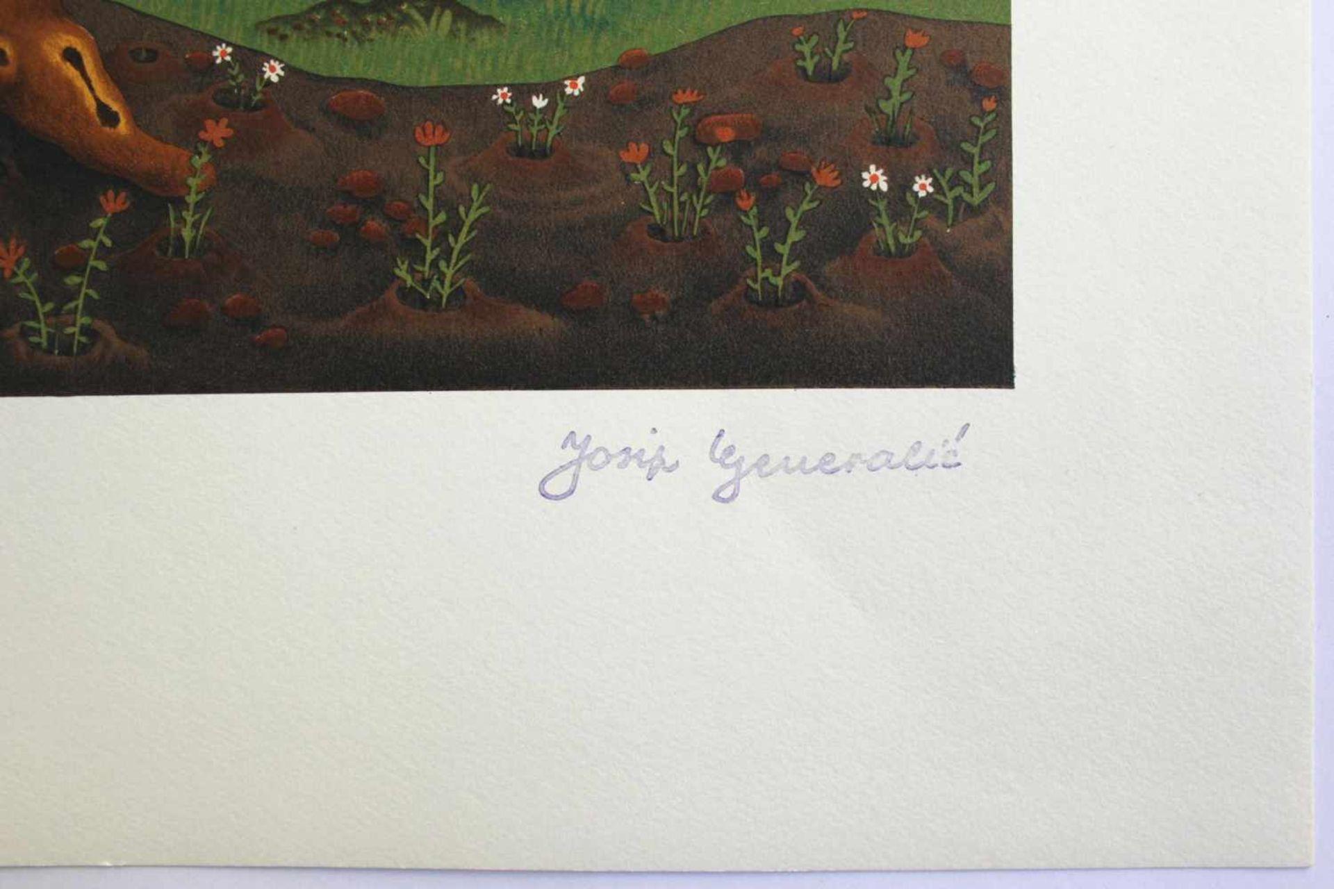 Josip Generalic 1914 - 1992 Blumenstrauß 1975 Lithographie 1975 realisiert, nummeriert 0345/5300 - Bild 2 aus 3