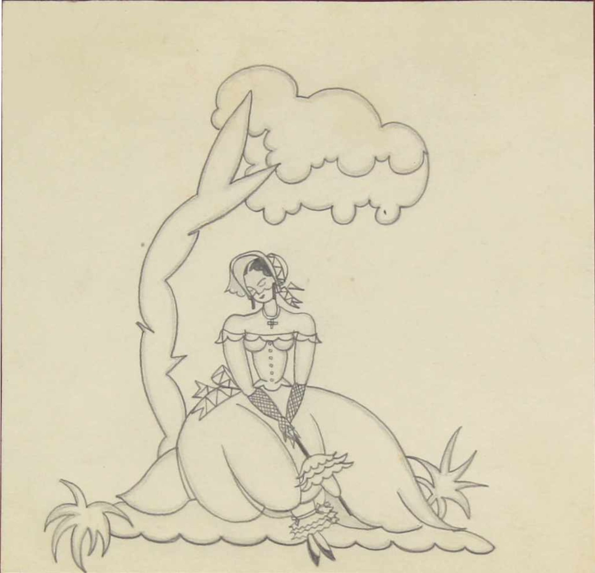 Grete Jelinek-Wiglitzki Konvolut aus 3 Zeichnungen der Künstlerin um 1930 Graphit 3 Zeichnungen 15 x - Bild 4 aus 6