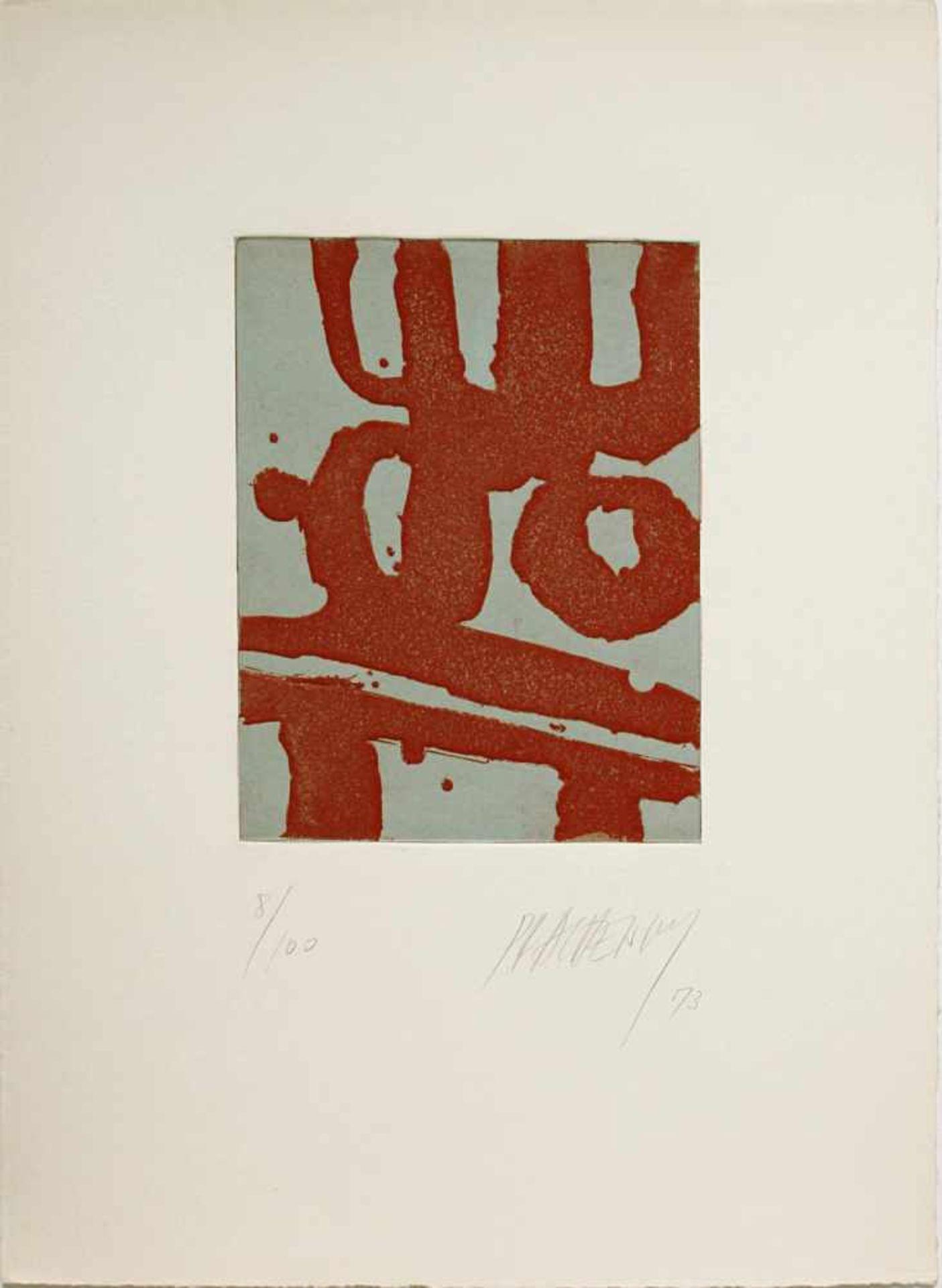 Markus Prachensky 1932-2011 o.T. 1973 Farbradierung handsigniert und nummeriert 55/100 34,5 x 25 cm