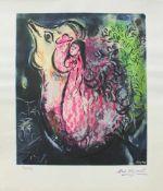 Marc Chagall 1887 - 1985 Paar im Garten Lithographie stempelsigniert, nummeriert 907/5000 56,5 x