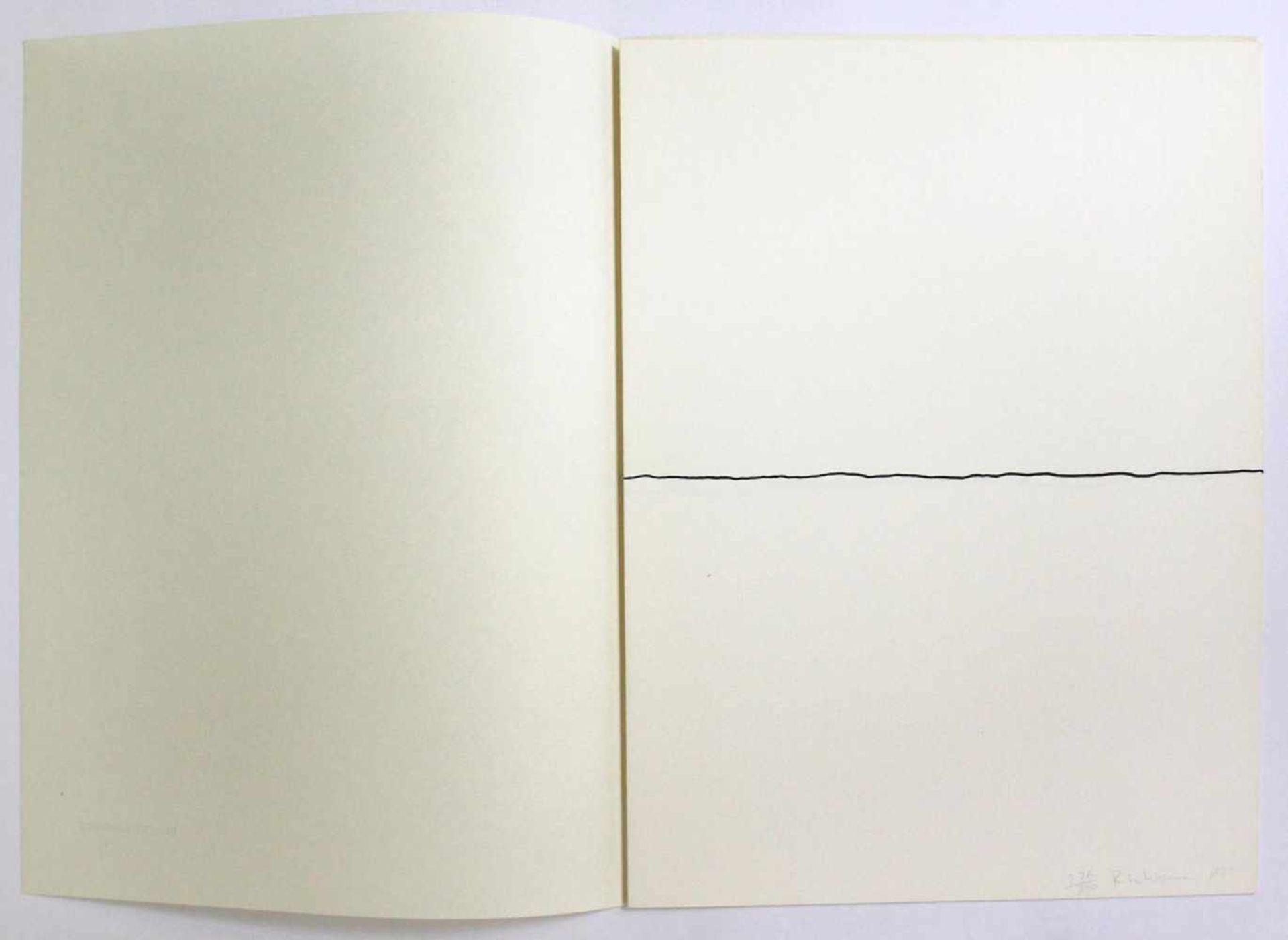 """Robert Witman geb. 1935 o.T. 1973 Lithographie auf Papier, beidseitig bedruckt aus dem Portfolio """" - Bild 2 aus 6"""