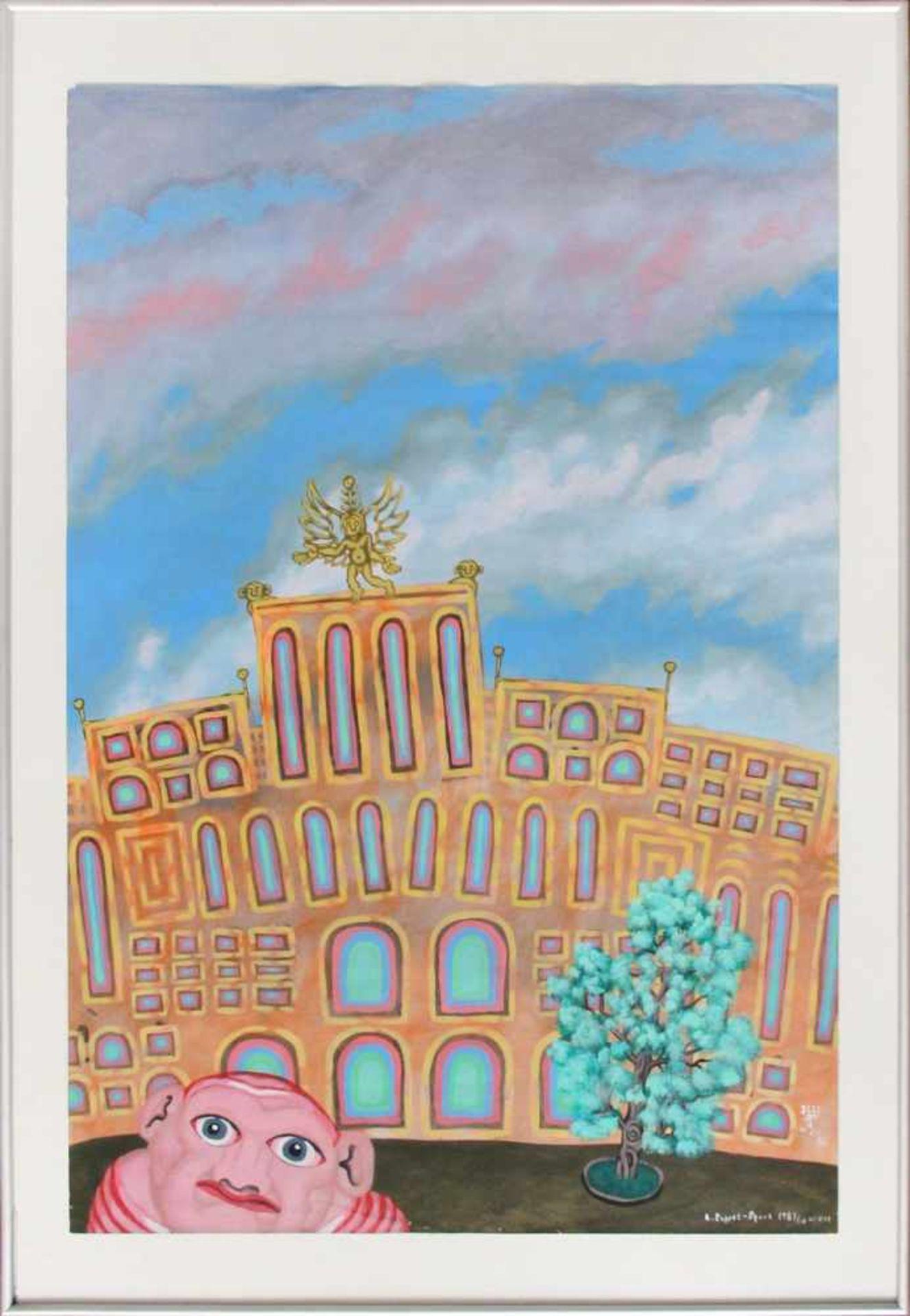 Robert Zeppel-Sperl 1944-2005 o.T. 1987 Mischtechnik auf Papier handsigniert und datiert 88 x 59,5 - Bild 2 aus 3