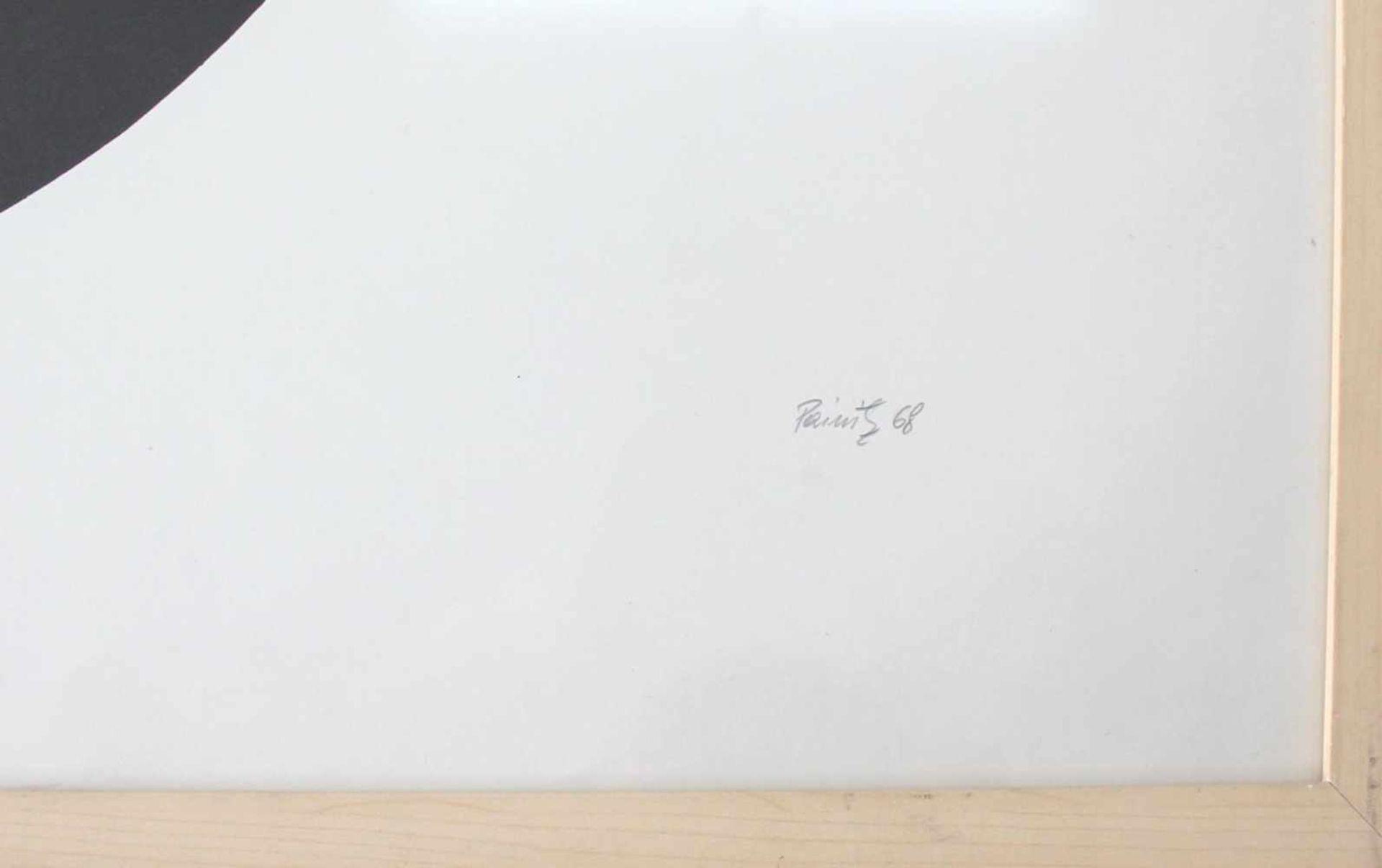 Hermann J. Painitz geb. 1938 Zahl und Zentrum 1968 Farbserigraphie handsigniert, betitelt, datiert - Bild 3 aus 5