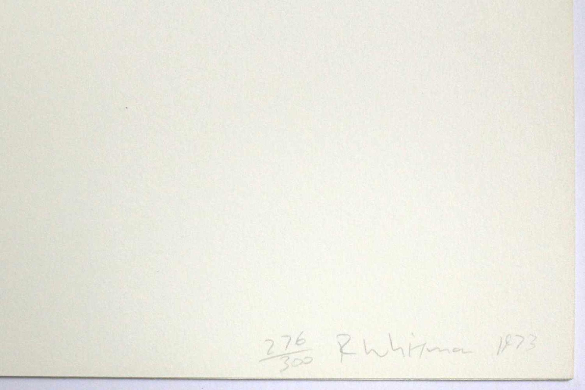 """Robert Witman geb. 1935 o.T. 1973 Lithographie auf Papier, beidseitig bedruckt aus dem Portfolio """" - Bild 6 aus 6"""