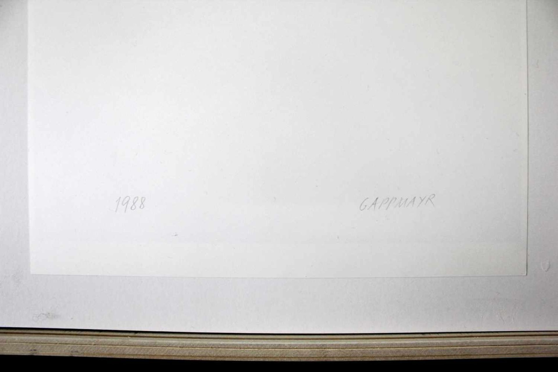 Heinz Gappmayr 1925 - 2010 Quadrato 1988 Offset-Druck handsigniert und datiert verso 42 x 30 cm - Bild 3 aus 3
