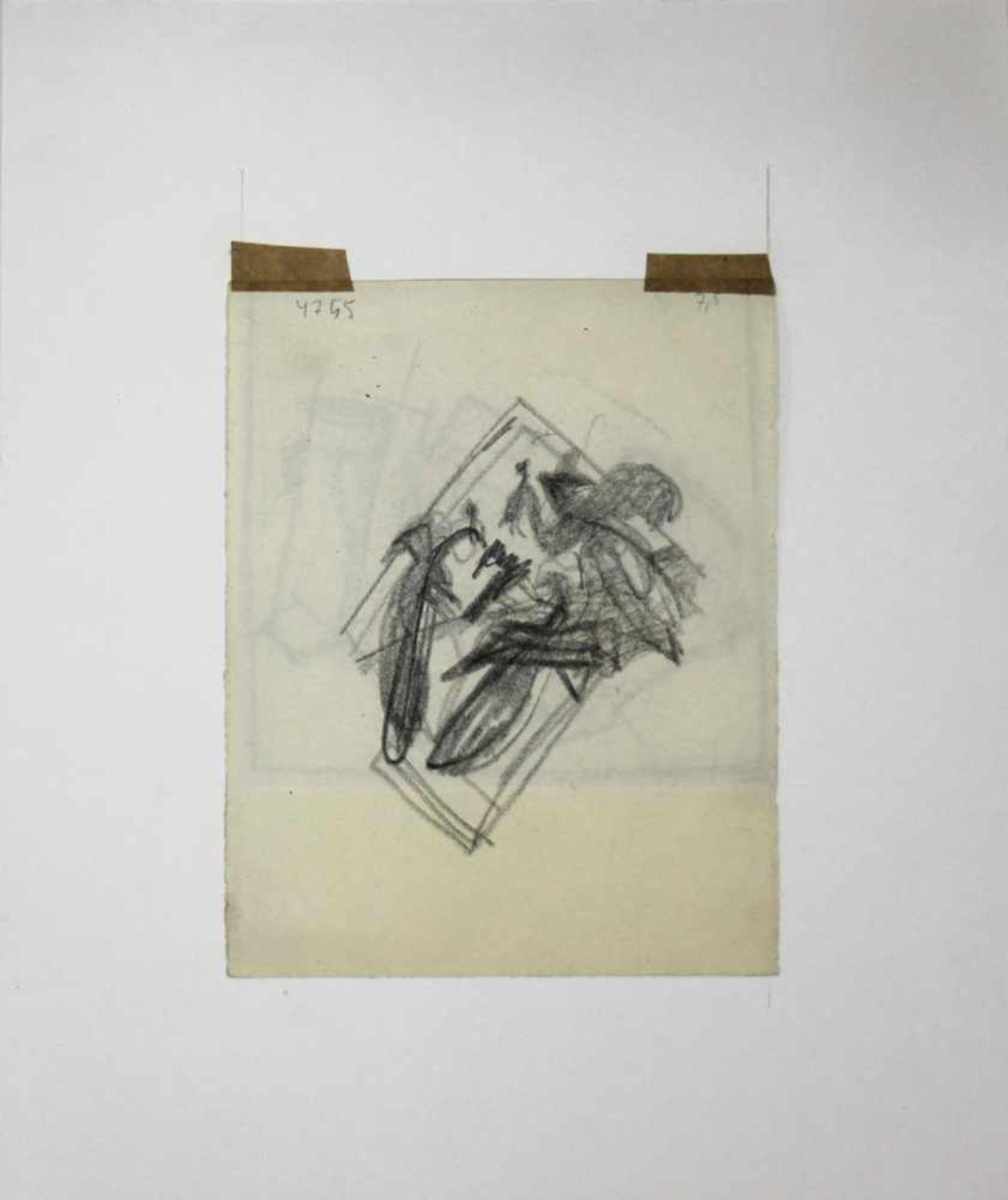 Ludwig Heinrich Jungnickel 1881-1965 Katz & Maus Graphit 16 x 12,5 - Bild 3 aus 3