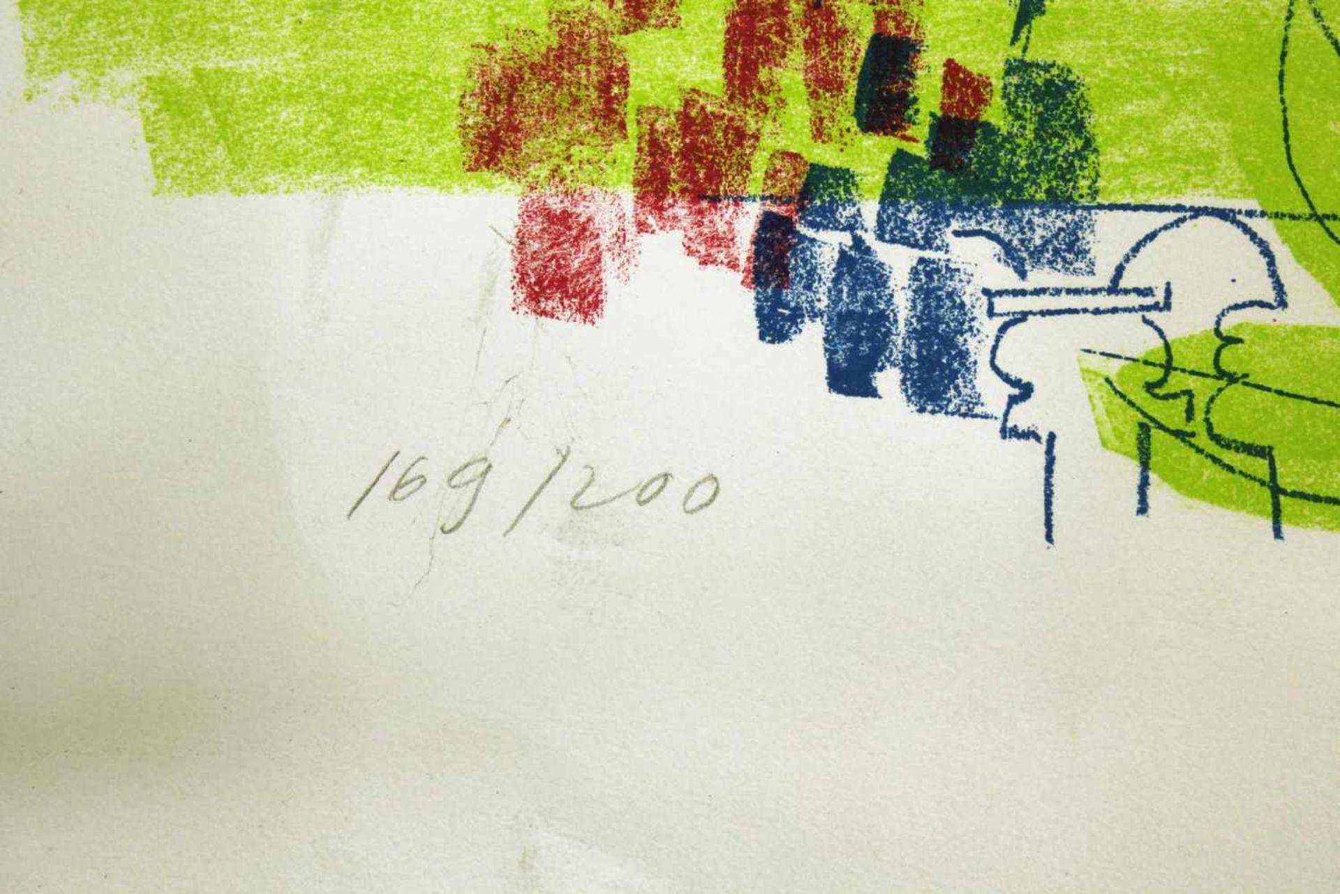 Geisbichler Landschaft Lithographie Signatur in Druckplatte, nummeriert 169/200 50 x 65 cm - Bild 3 aus 3