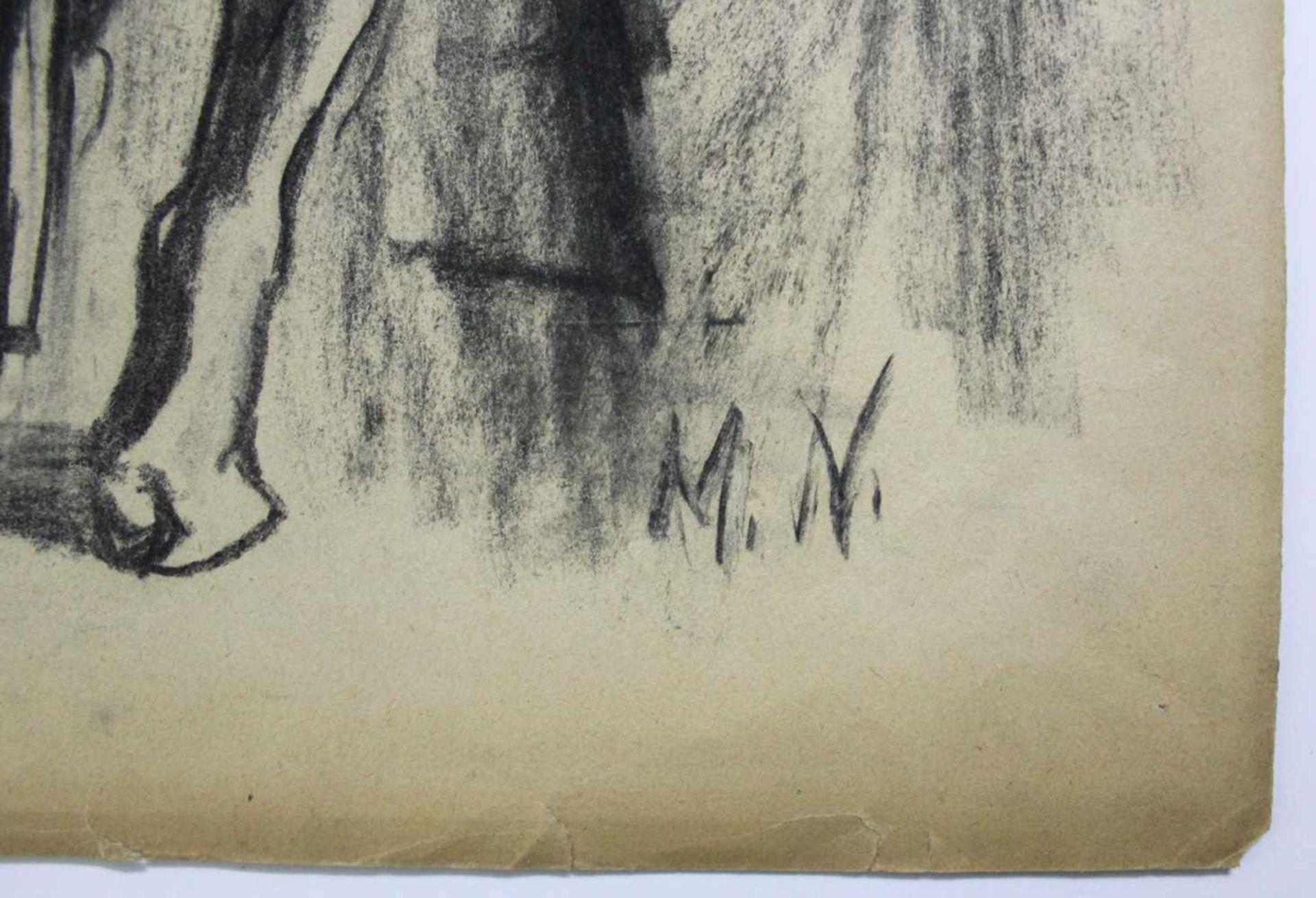 Marianne Neugebauer-Iwanska 1911-1997 Sitzende Kohle monogrammiert 60 x 40 cm - Bild 2 aus 2