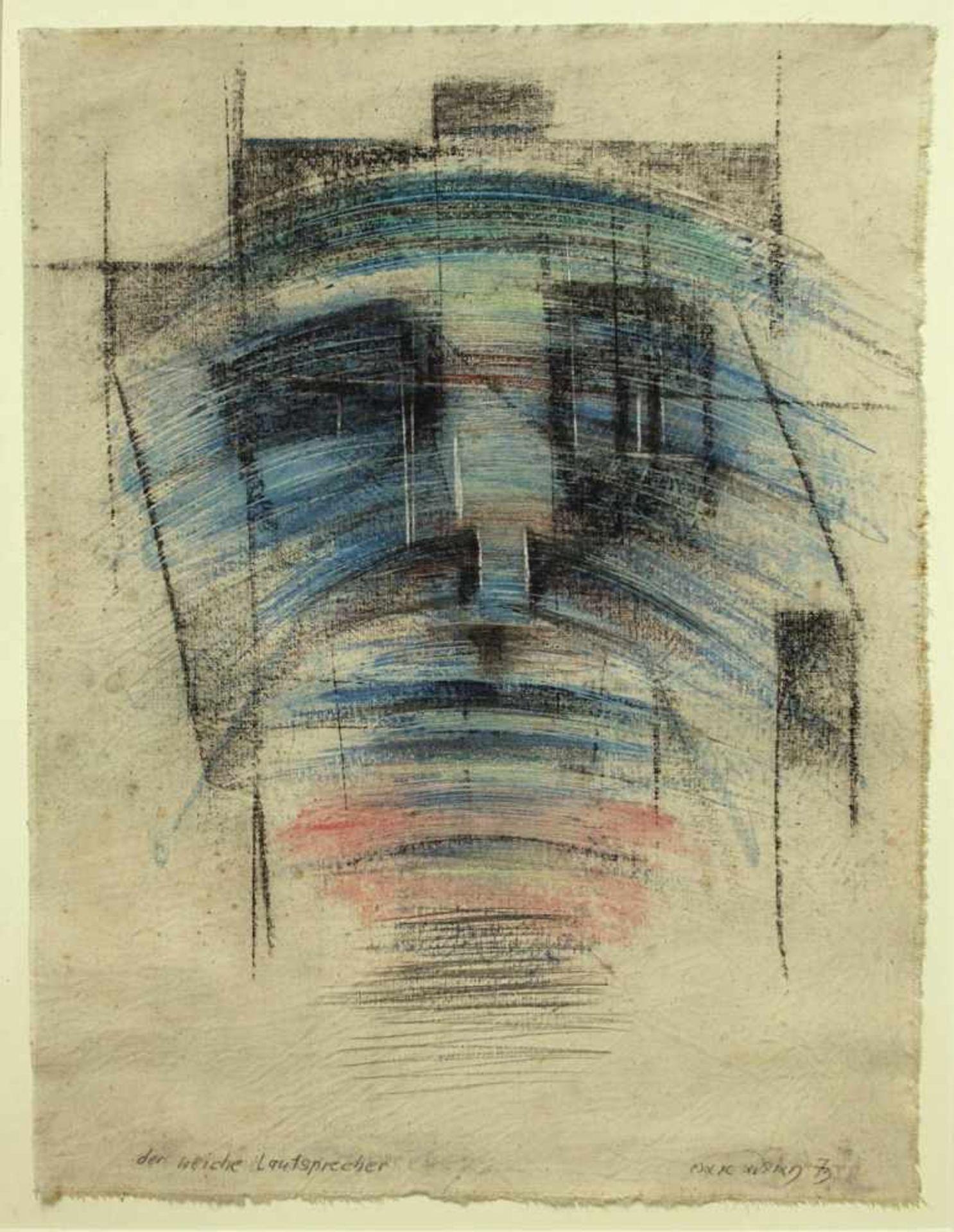 Marc Adrian 1930-2008 Der weiche Lautsprecher 1973 Öl auf Leinwand handsigniert, betitelt und