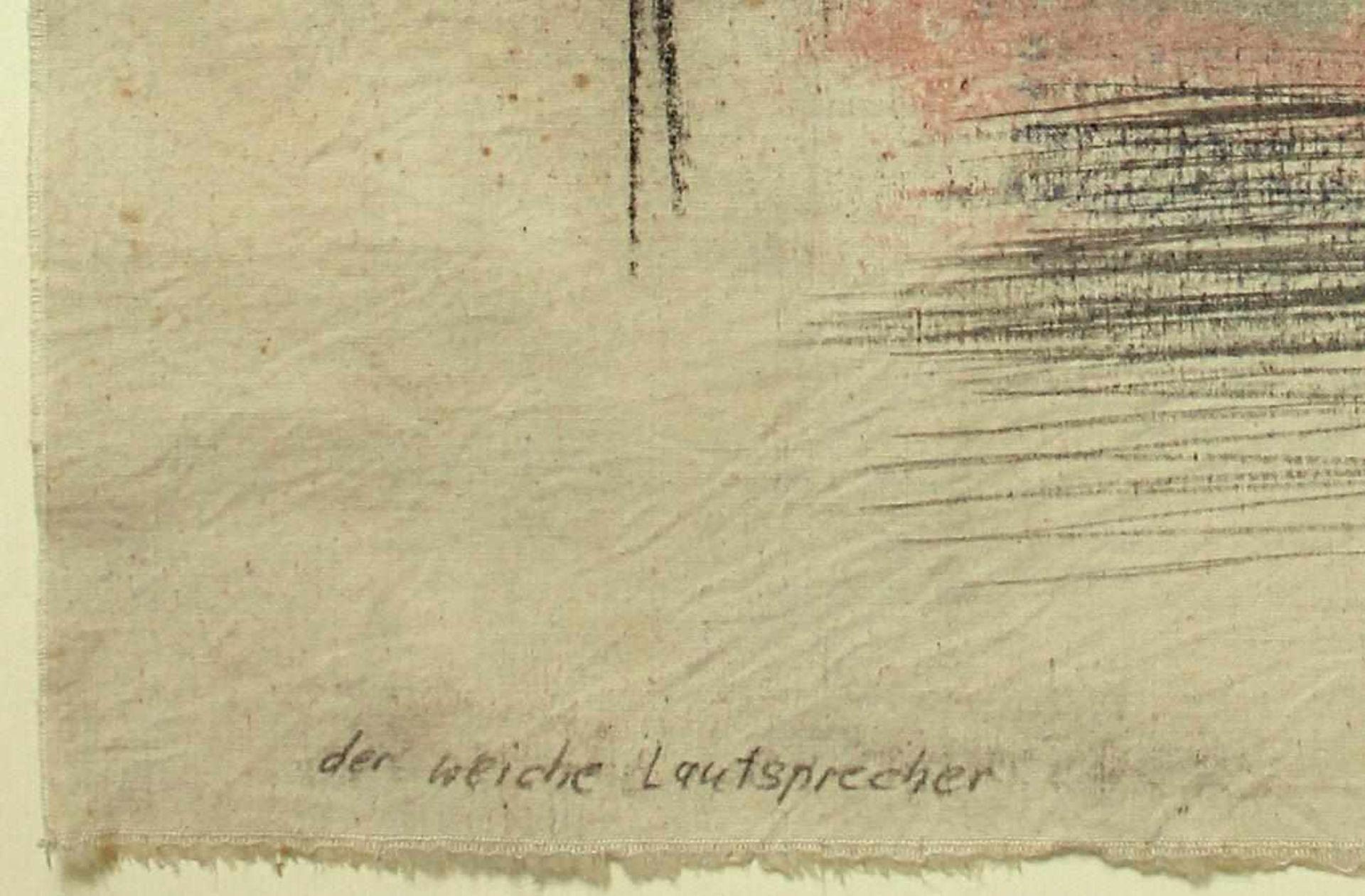 Marc Adrian 1930-2008 Der weiche Lautsprecher 1973 Öl auf Leinwand handsigniert, betitelt und - Bild 4 aus 4